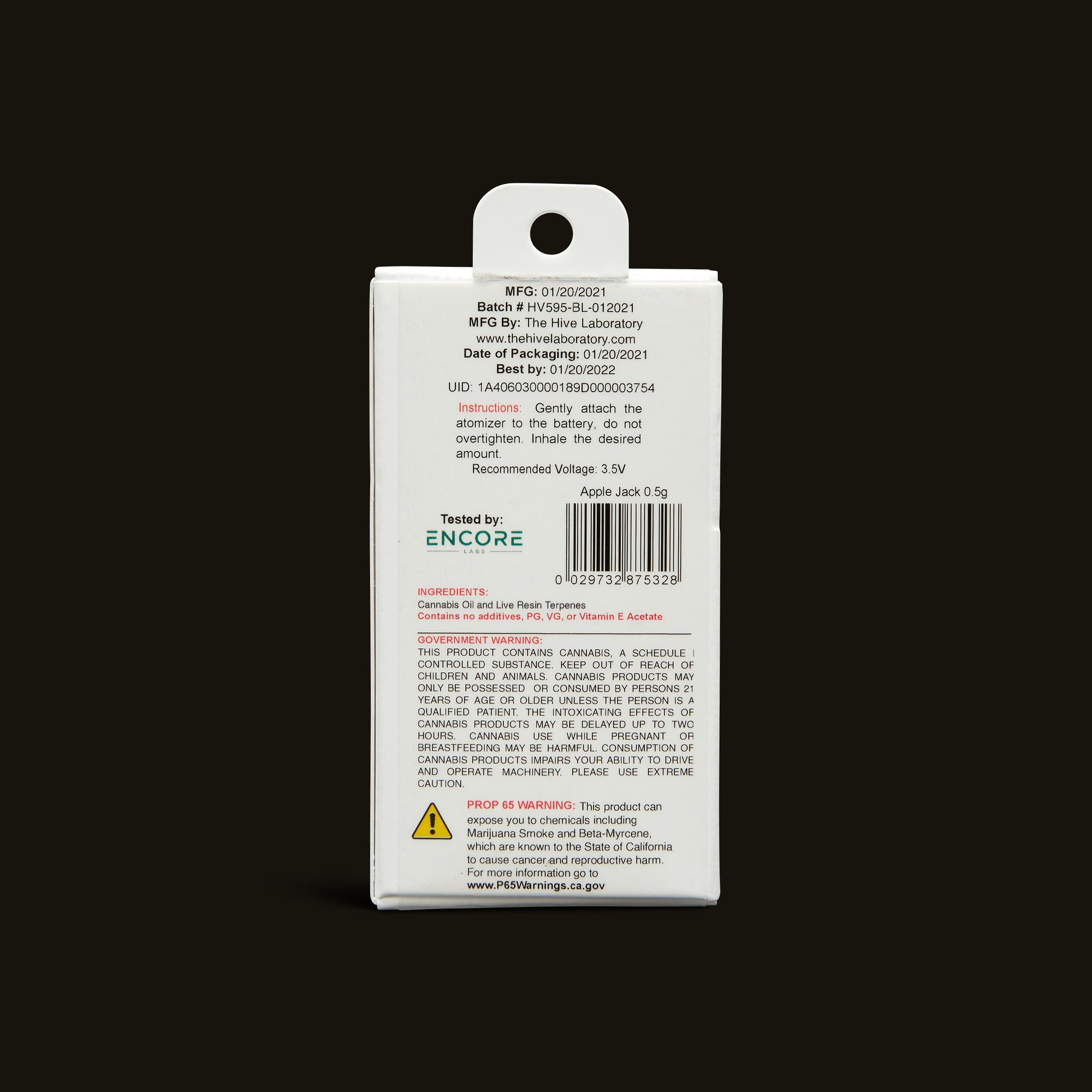 Bloom Brands Vape Pen - Apple Jack Live Resin Cartridge - .5g