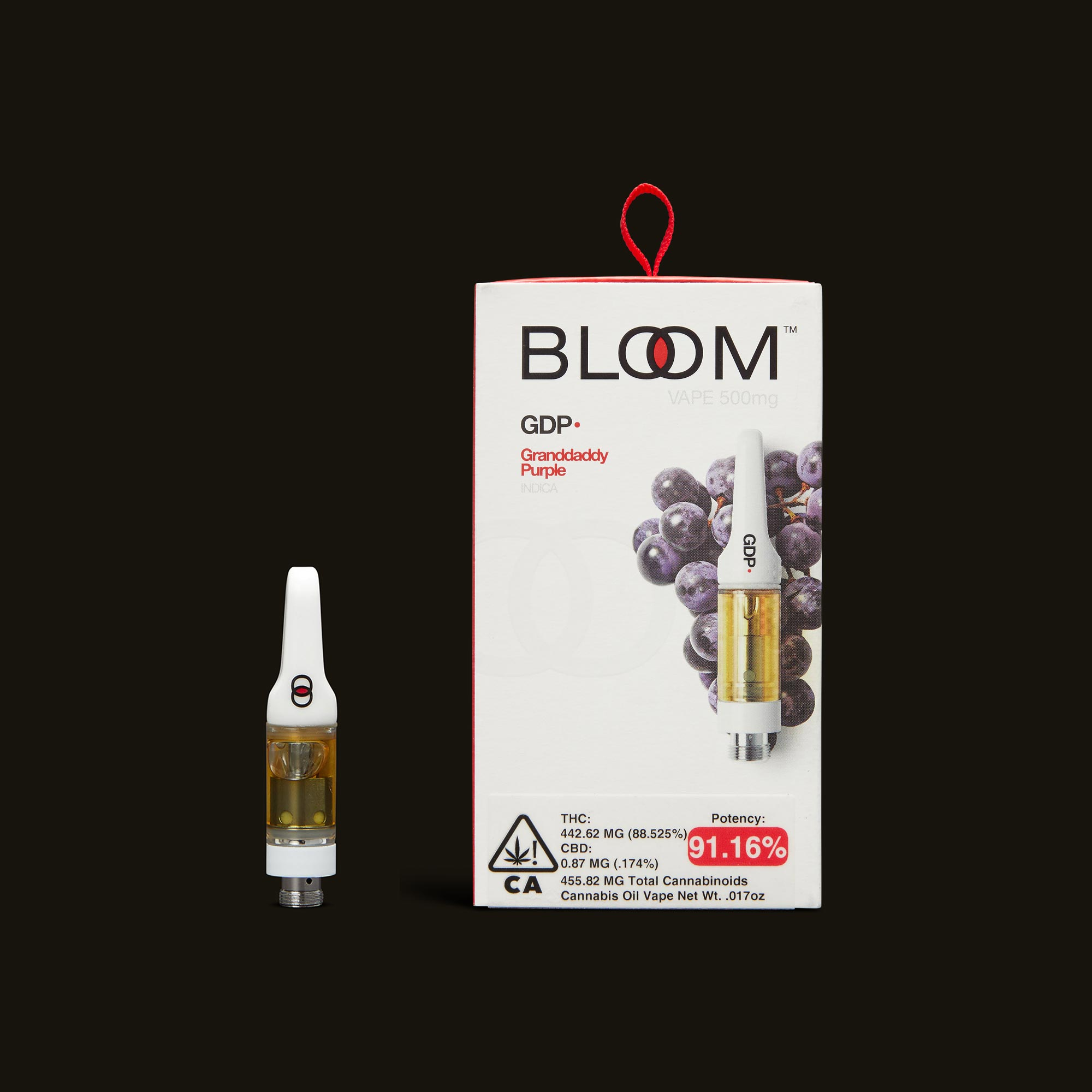 Granddaddy Purple Cartridge - 1g by Bloom Brands