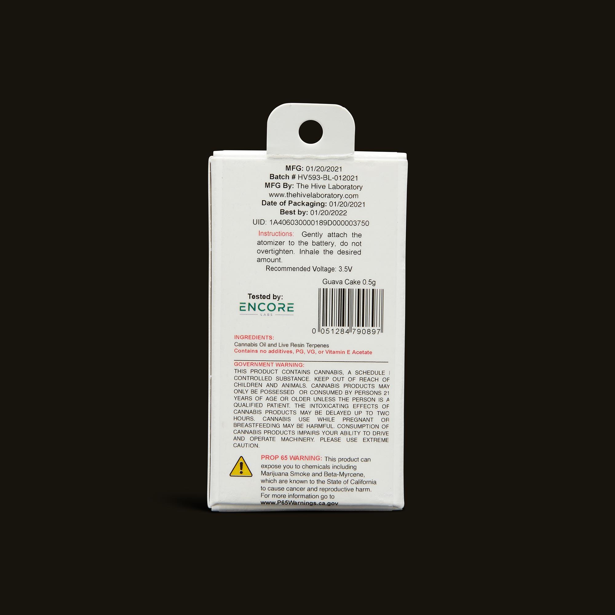 Bloom Brands Vape Pen - Guava Cake Live Resin Cartridge - .5g