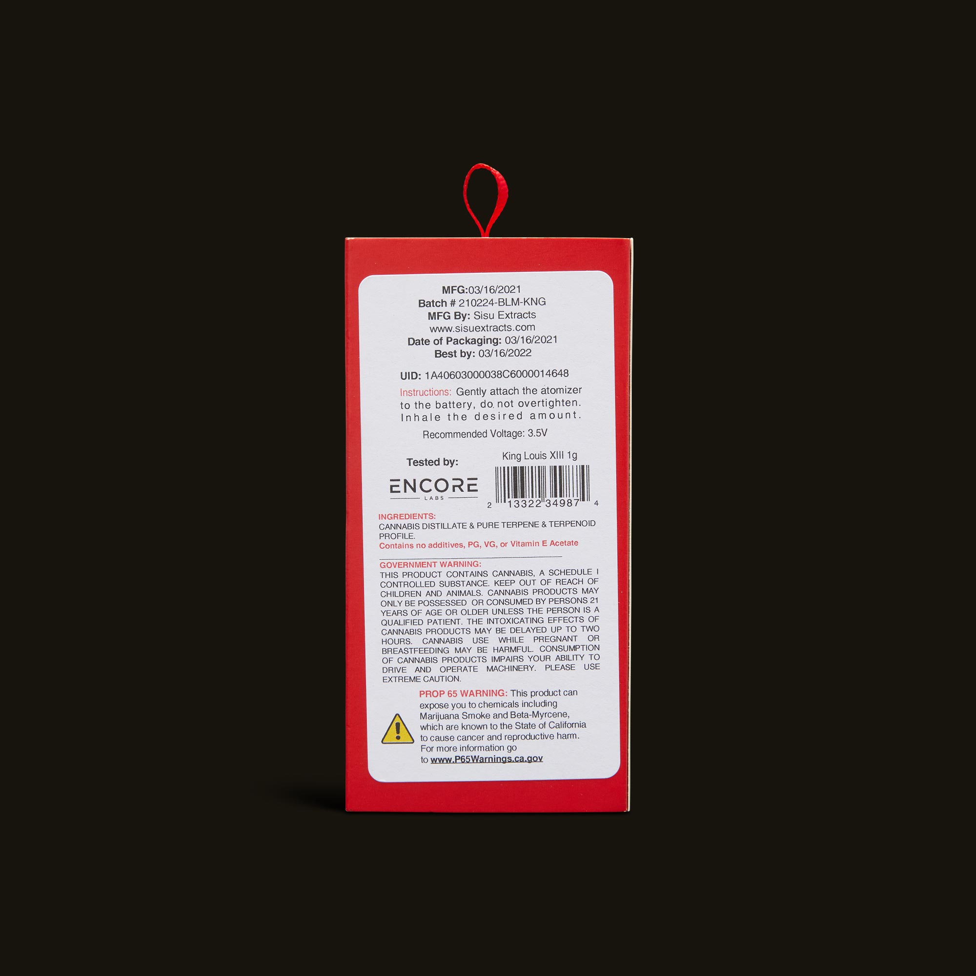 Bloom Brands Vape Pen - King Louis Cartridge - .5g