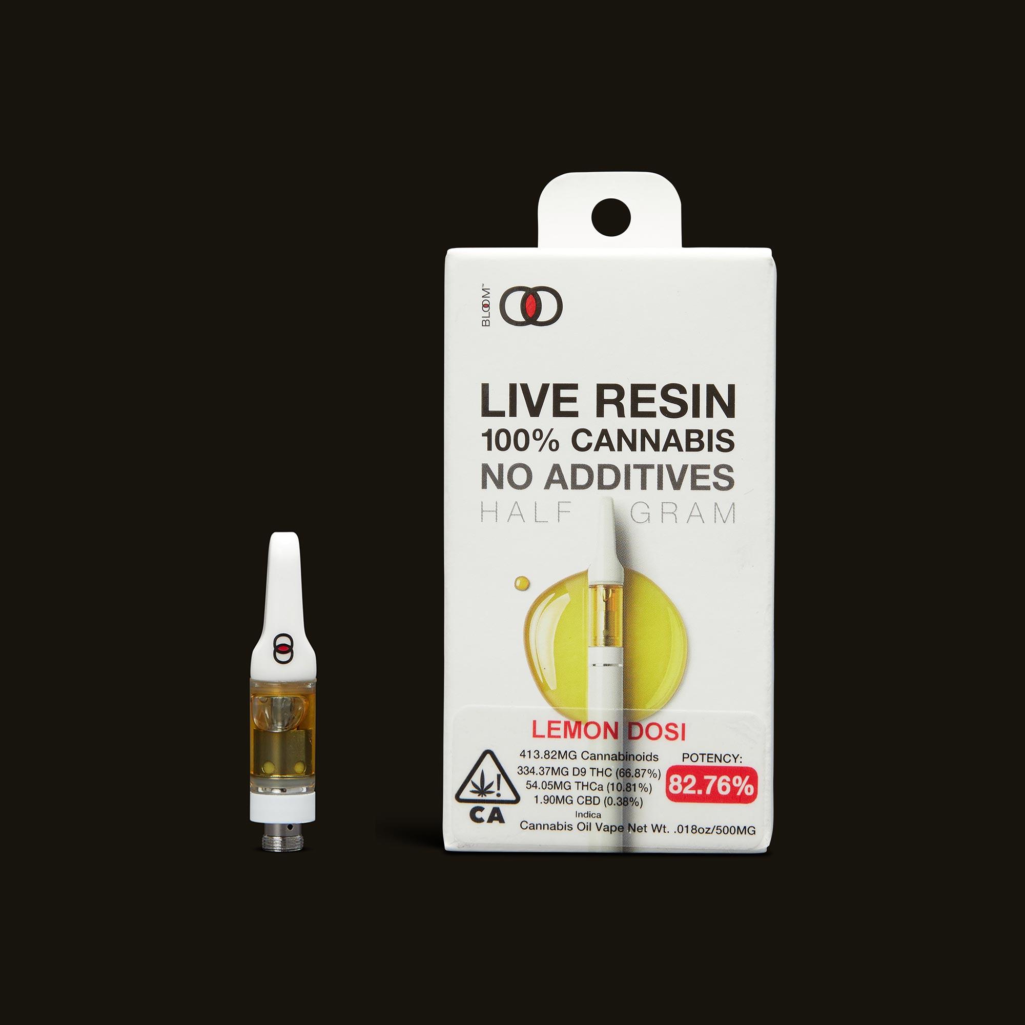 Lemon Dosi Live Resin Cartridge - .5g by Bloom Brands