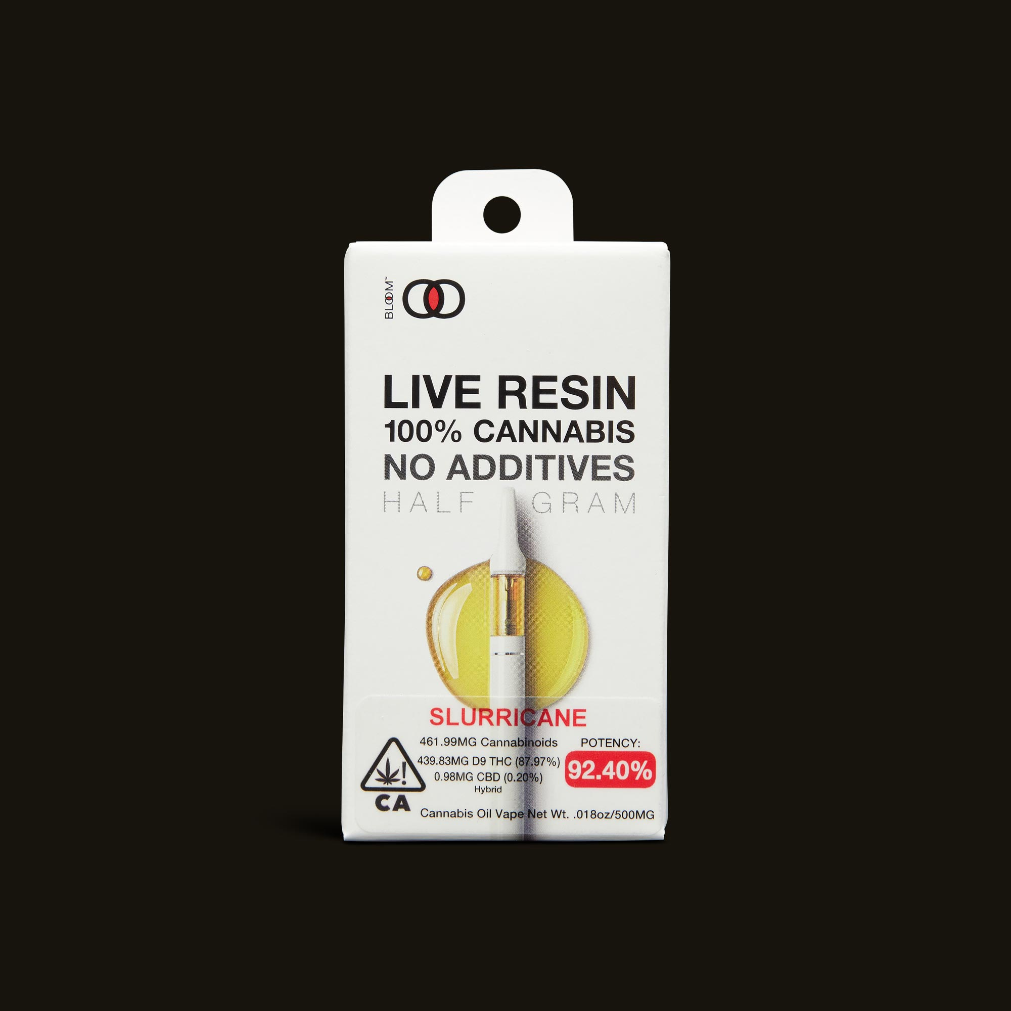 Slurricane Live Resin Cartridge - 1g - 1g cartridge