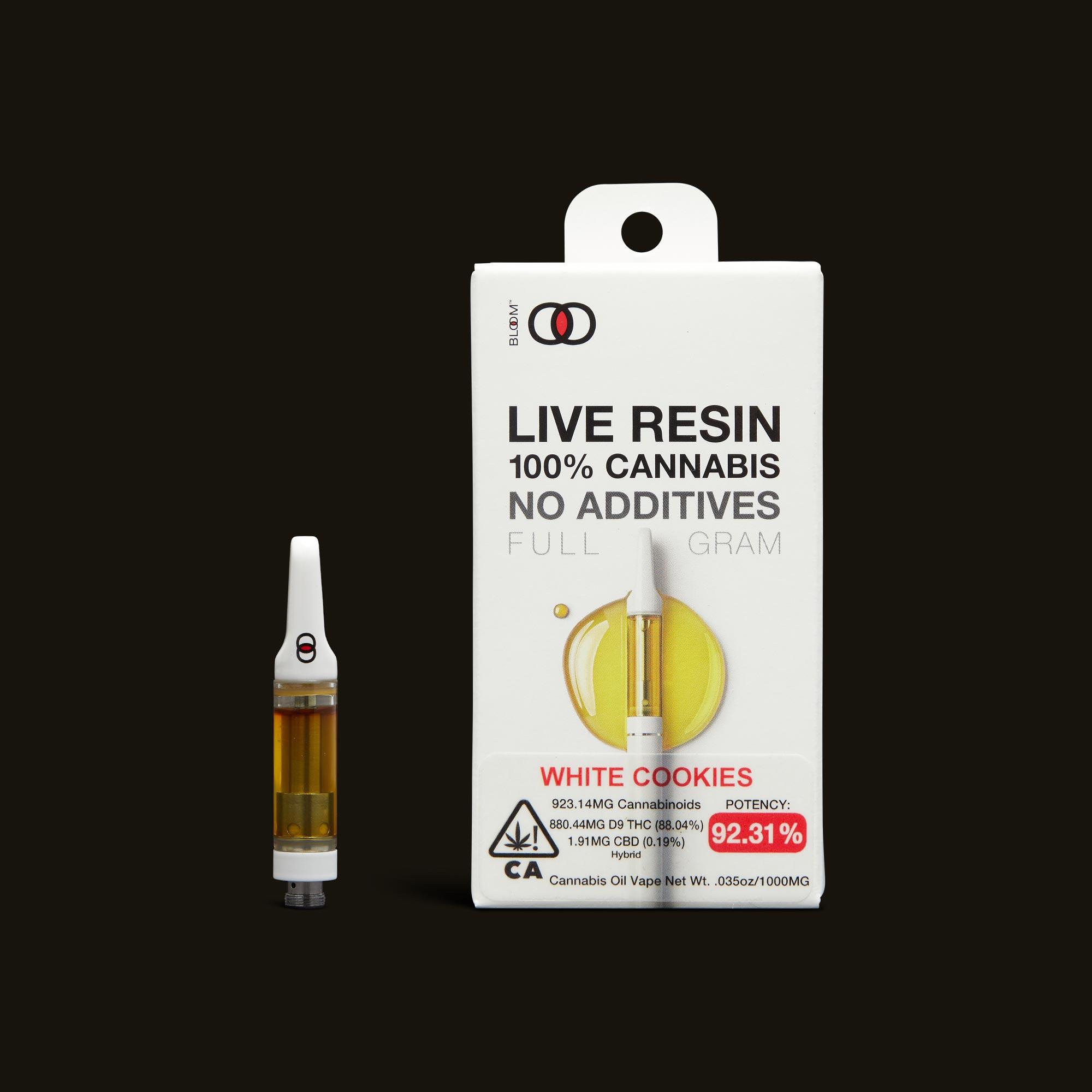 White Cookies Live Resin Cartridge - 1g by Bloom Brands