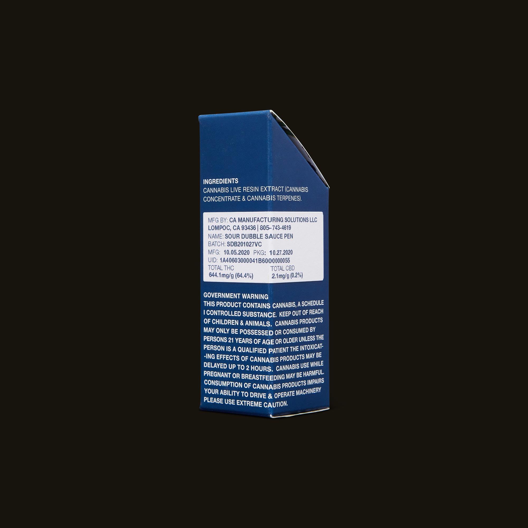 Field Extracts Vape Pen - Sour Dubble Sauce Pen