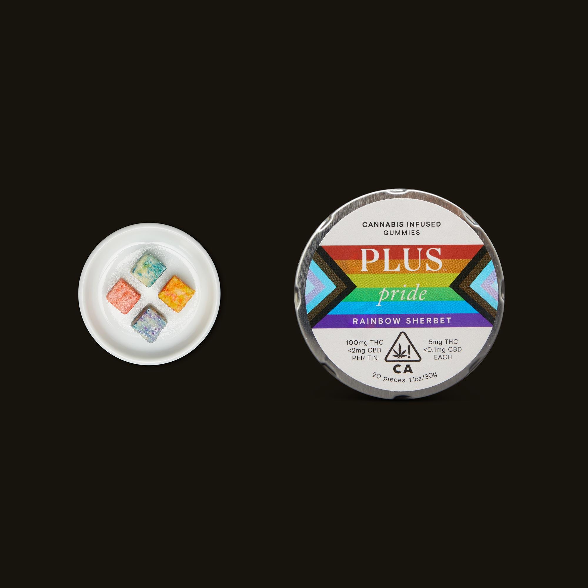 Plus Pride Rainbow Sherbet Gummies