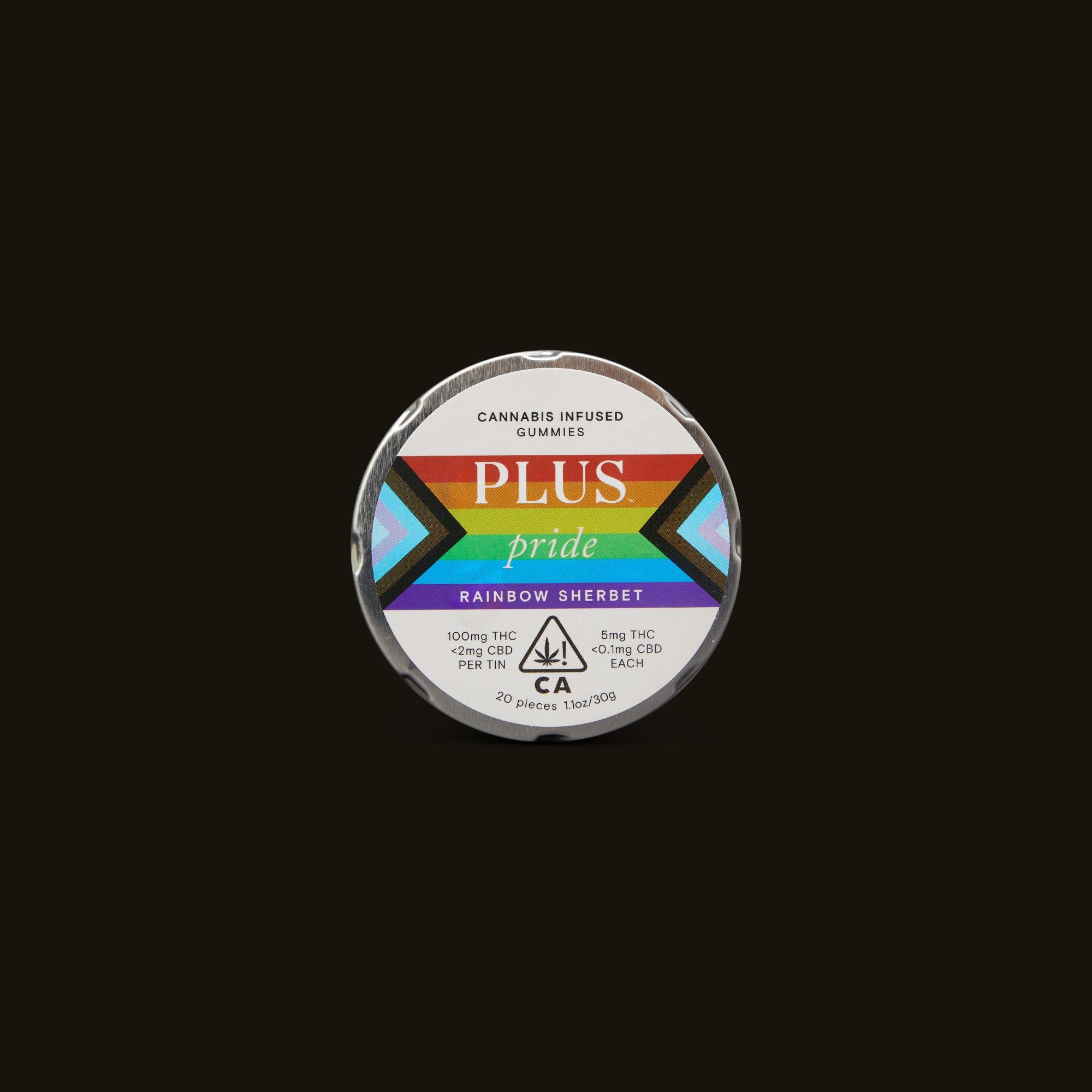 Pride Rainbow Sherbet Gummies - 20 gummies (100mg THC)