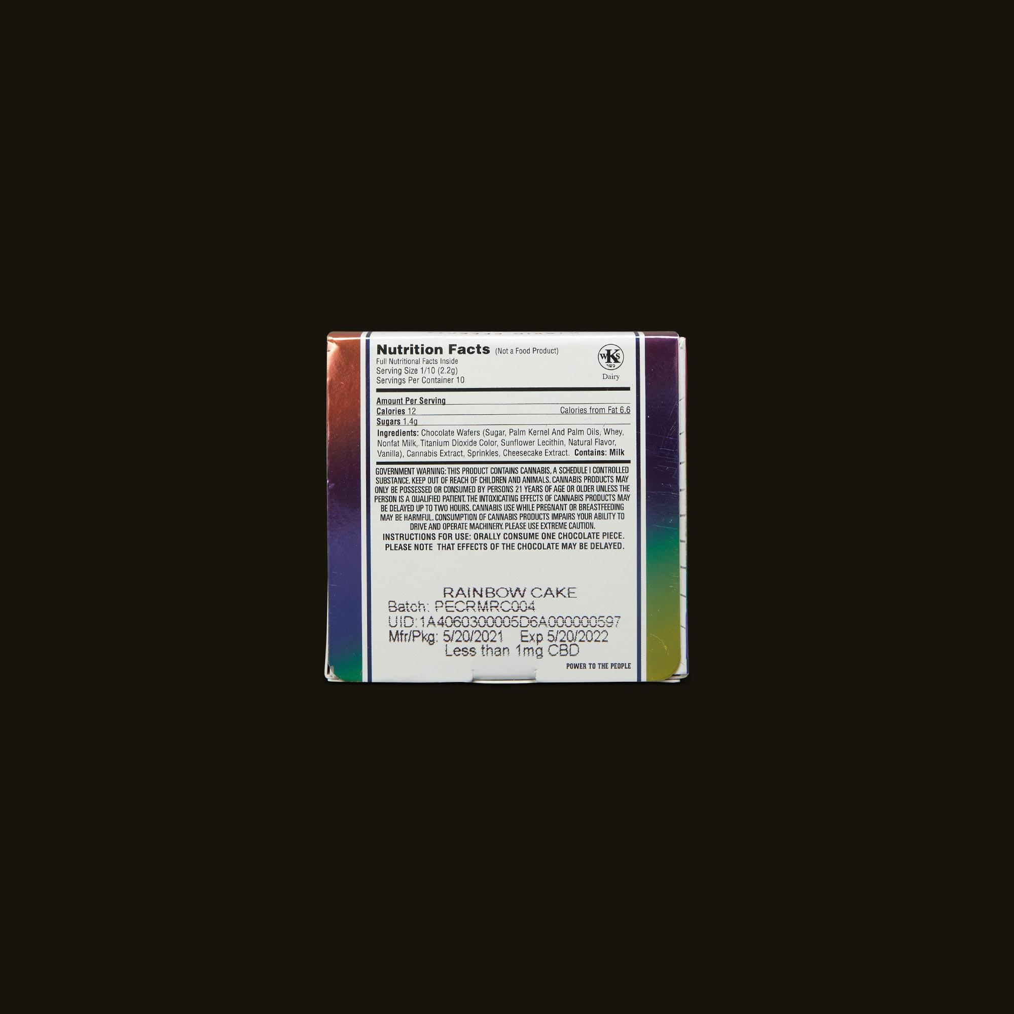 Punch Edibles Edible - White Chocolate Rainbow Cake