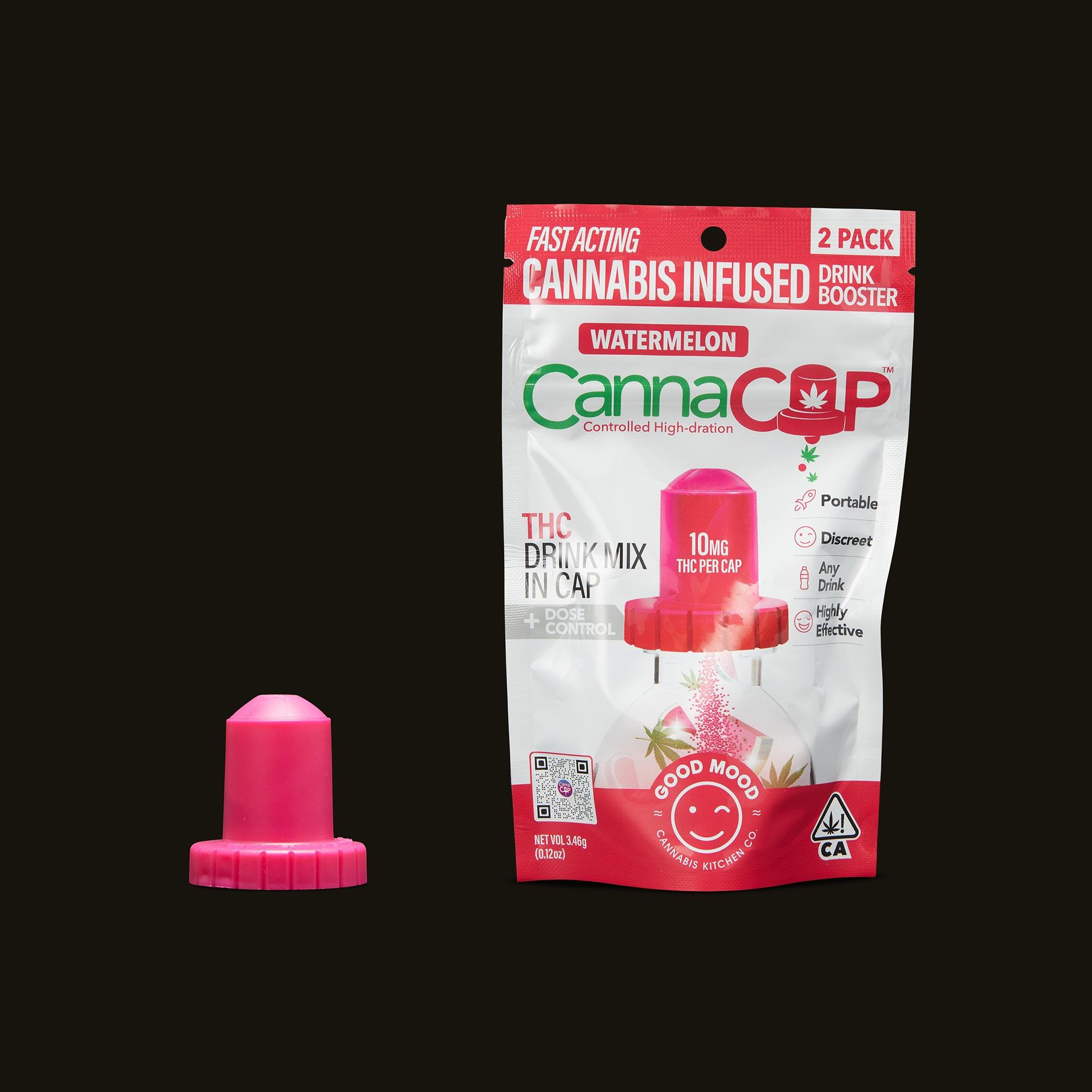 Good Mood Cannabis Kitchen Co. Watermelon CannaCap Drink Booster (2 Pack)