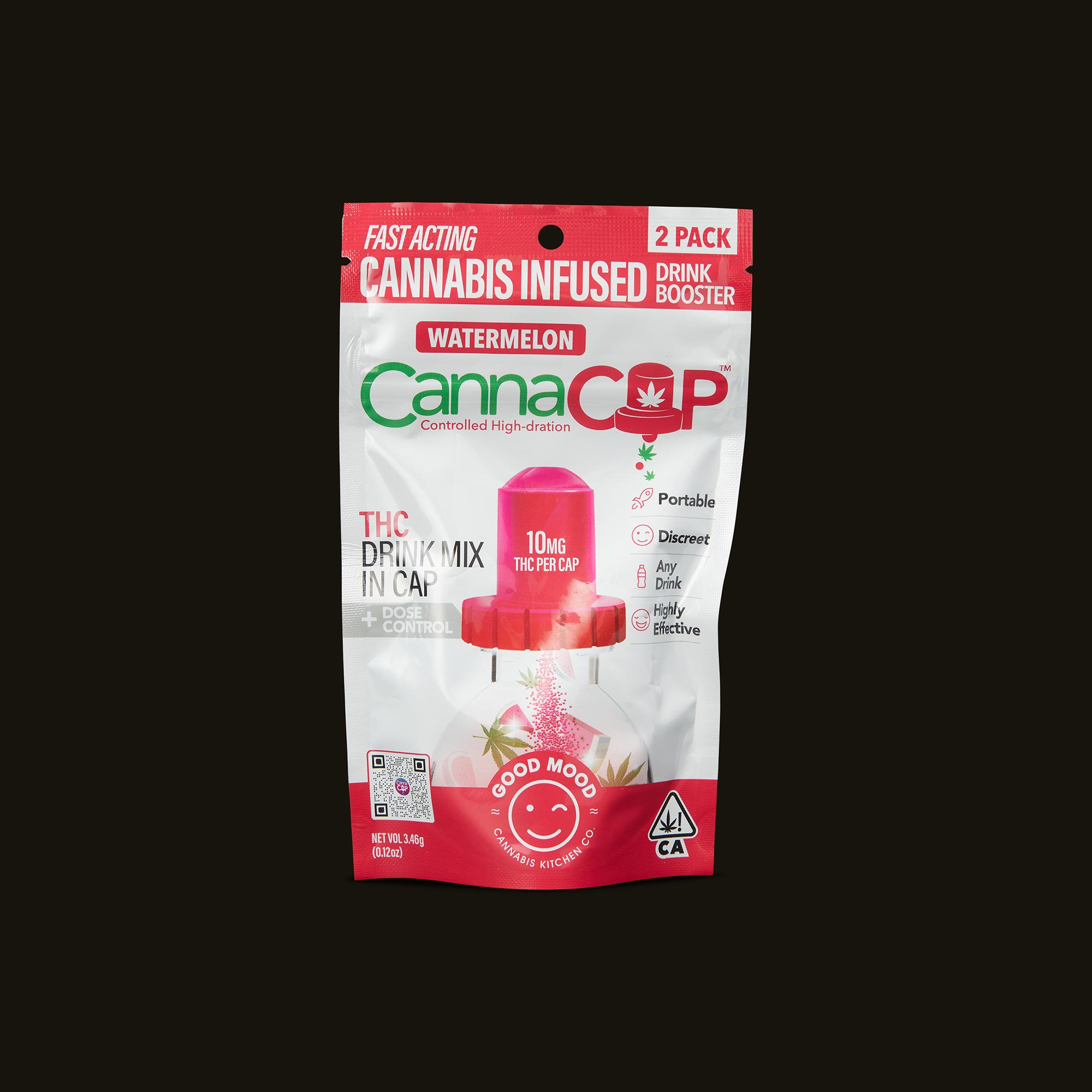 Watermelon CannaCap Drink Booster (2 Pack) - 2 servings per bag
