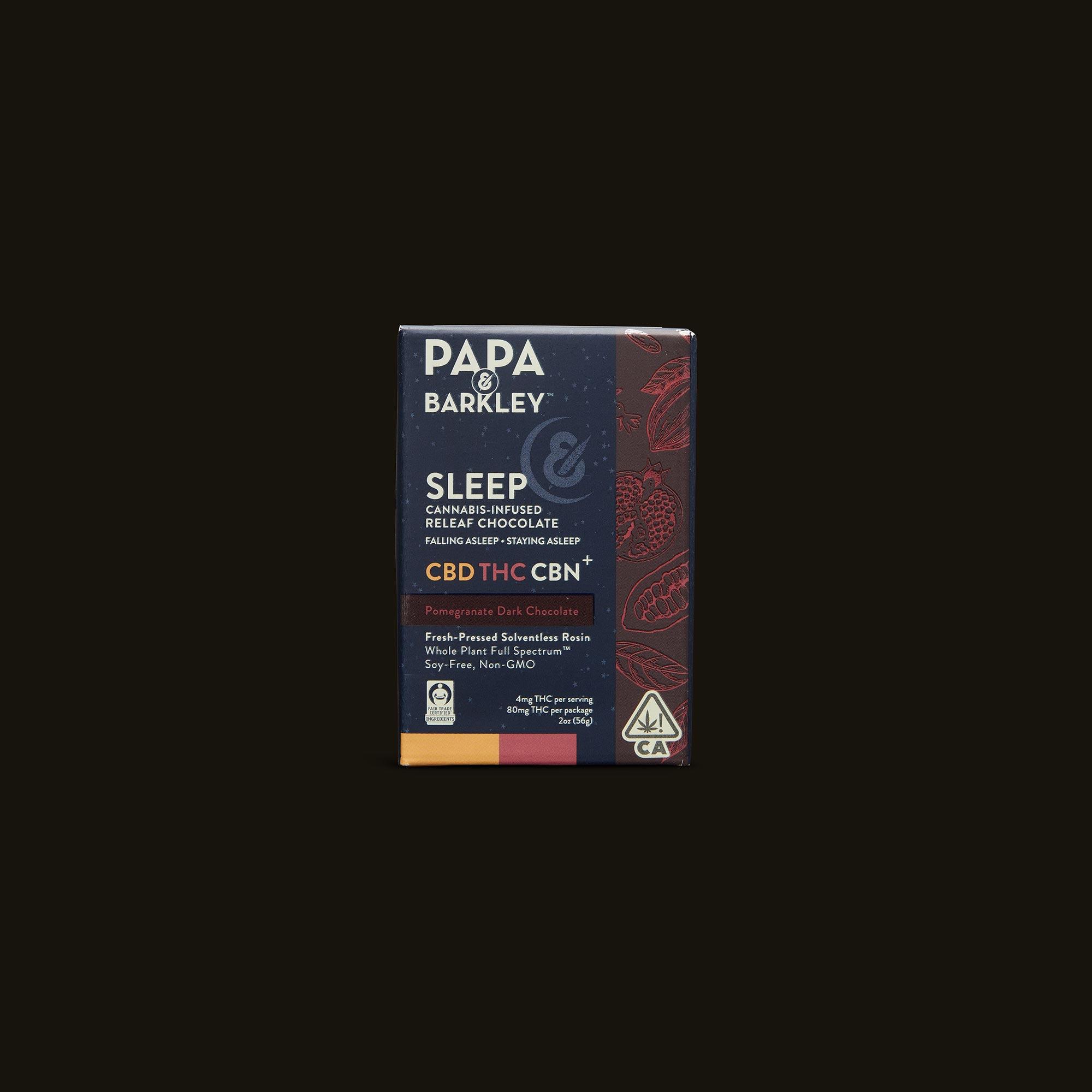 Sleep Pomegranate Dark Chocolate - 20 triangles (60mg CBD, 80mg THC, 20mg CBN)