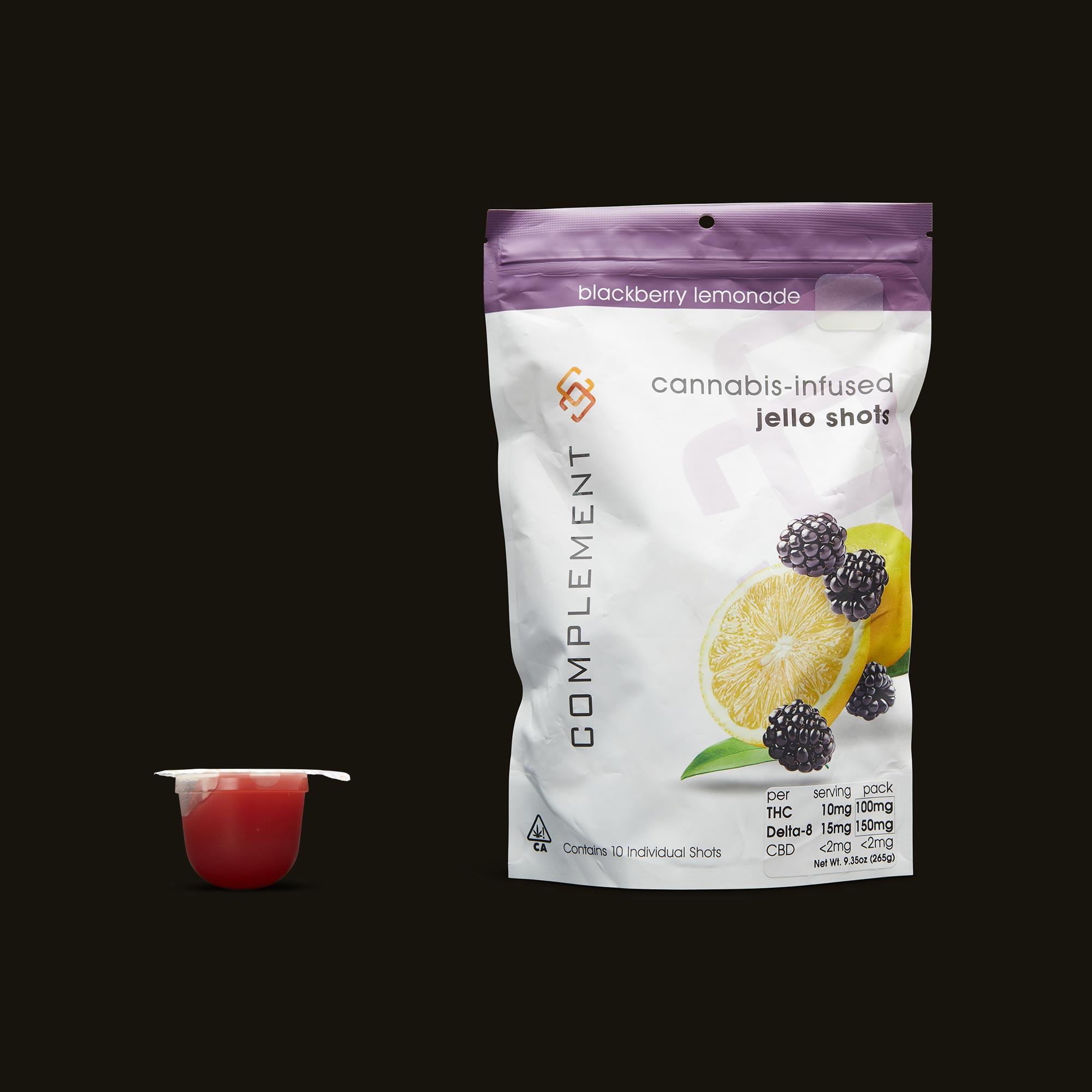 Complement Blackberry Lemonade Jello Shots