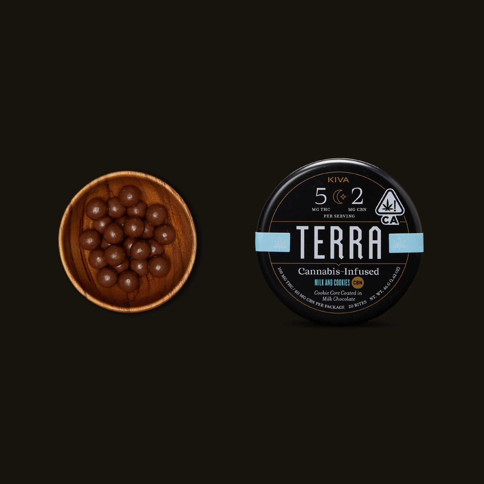 Terra Milk and Cookies CBN Bites by Kiva Confections