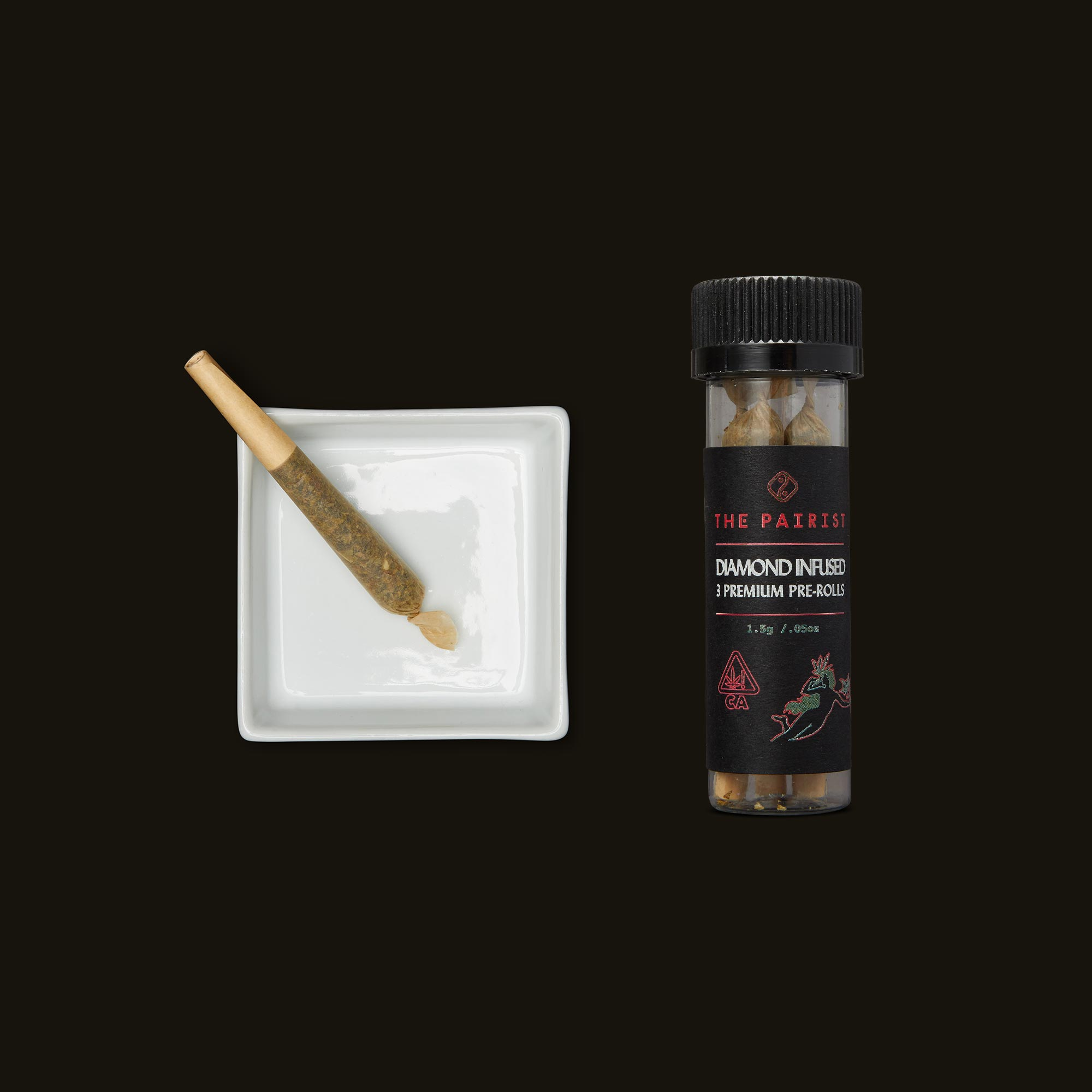 Triangle Mintz Diamond Infused Pre-Rolls by The Pairist