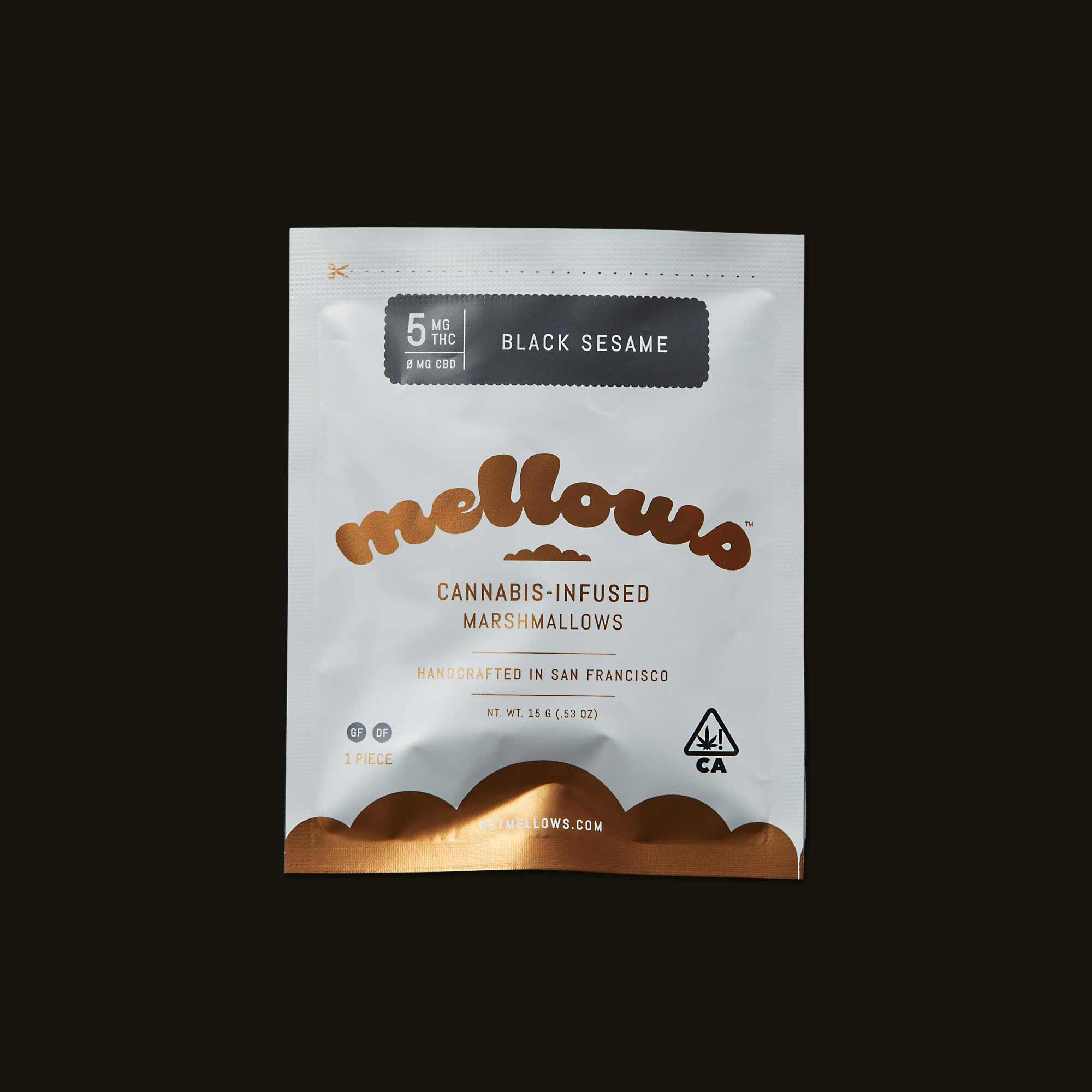 Black Sesame Mellows - 1 marshmallow (15g)
