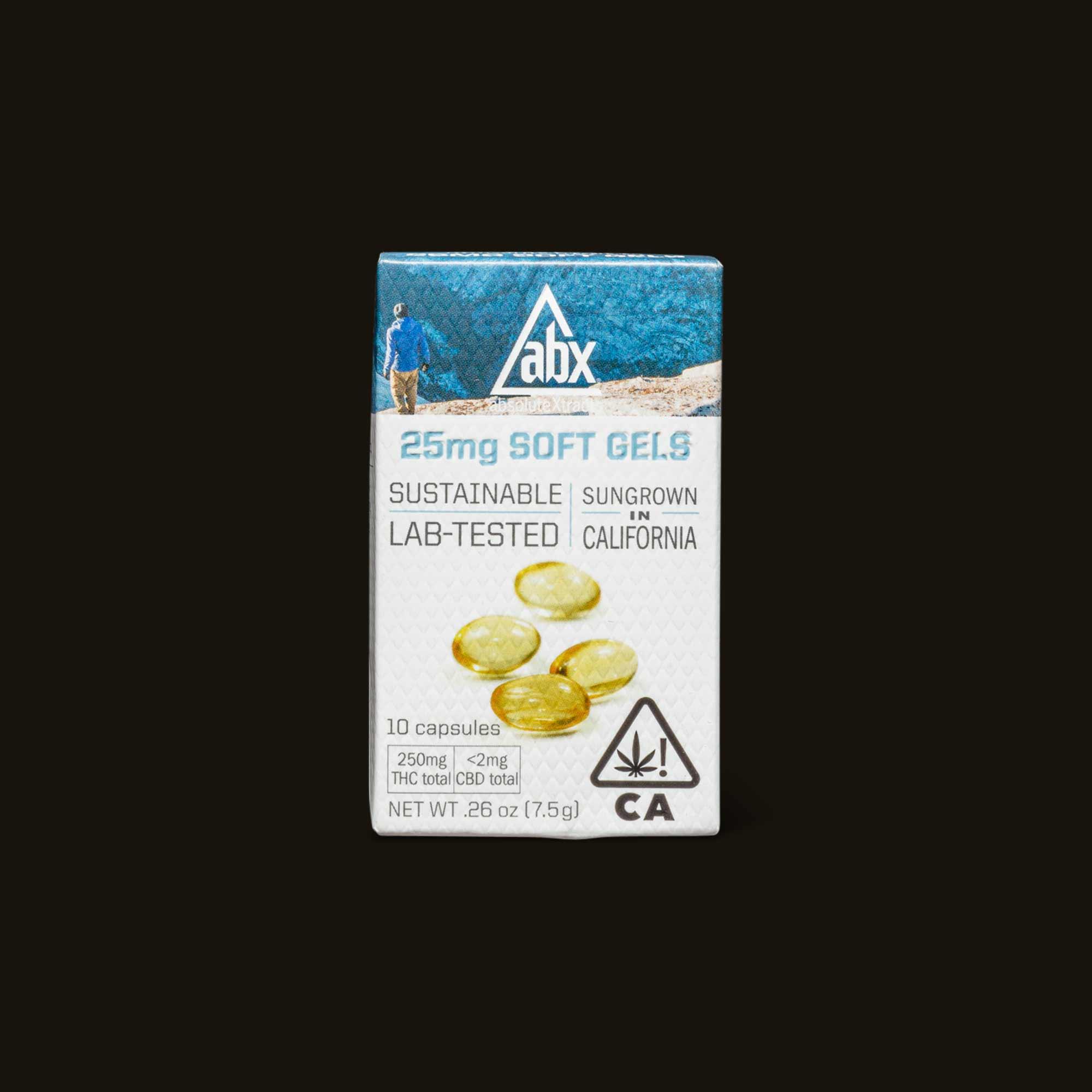 25mg THC Soft Gels - 10 capsules (250mg THC)