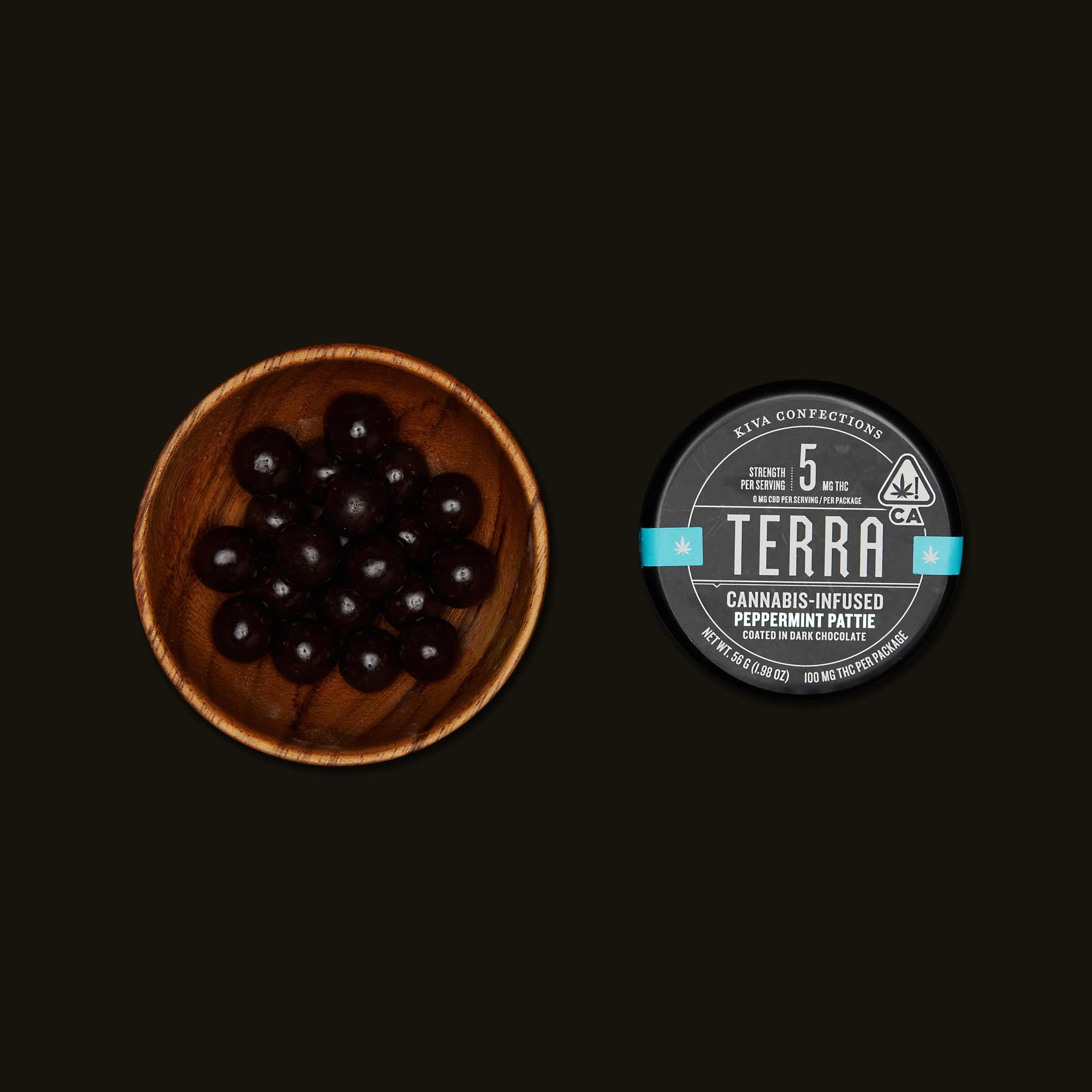 Kiva Confections Terra Peppermint Pattie Bites