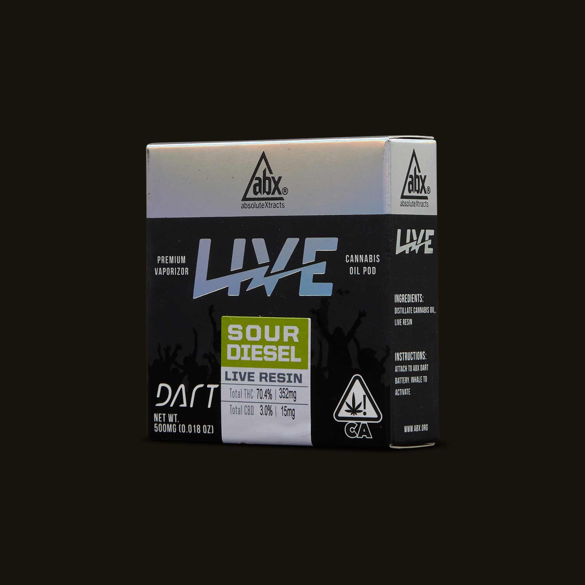 AbsoluteXtracts Vape Pen - Sour Diesel Live Resin Dart Pod