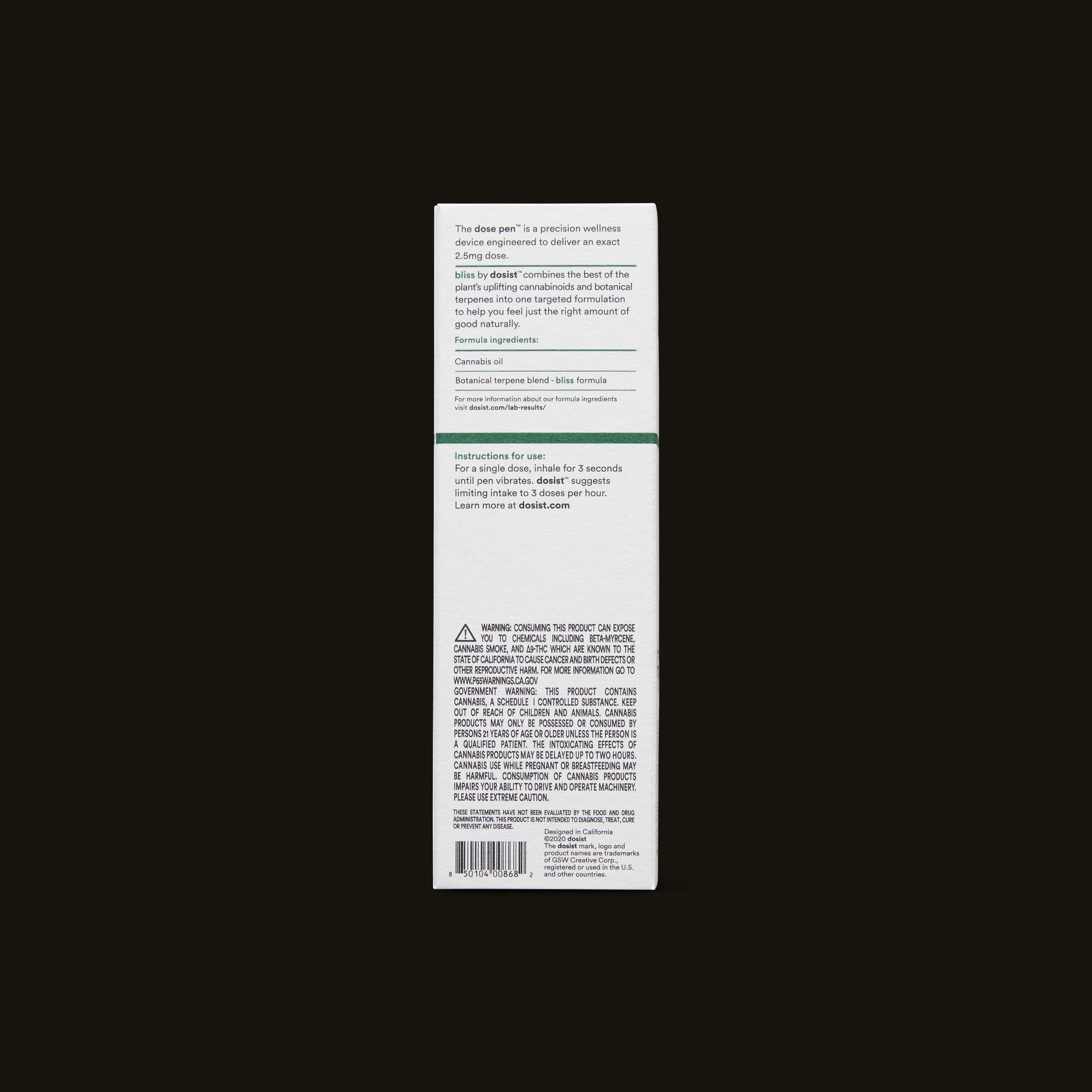 dosist bliss dose pen ingredients