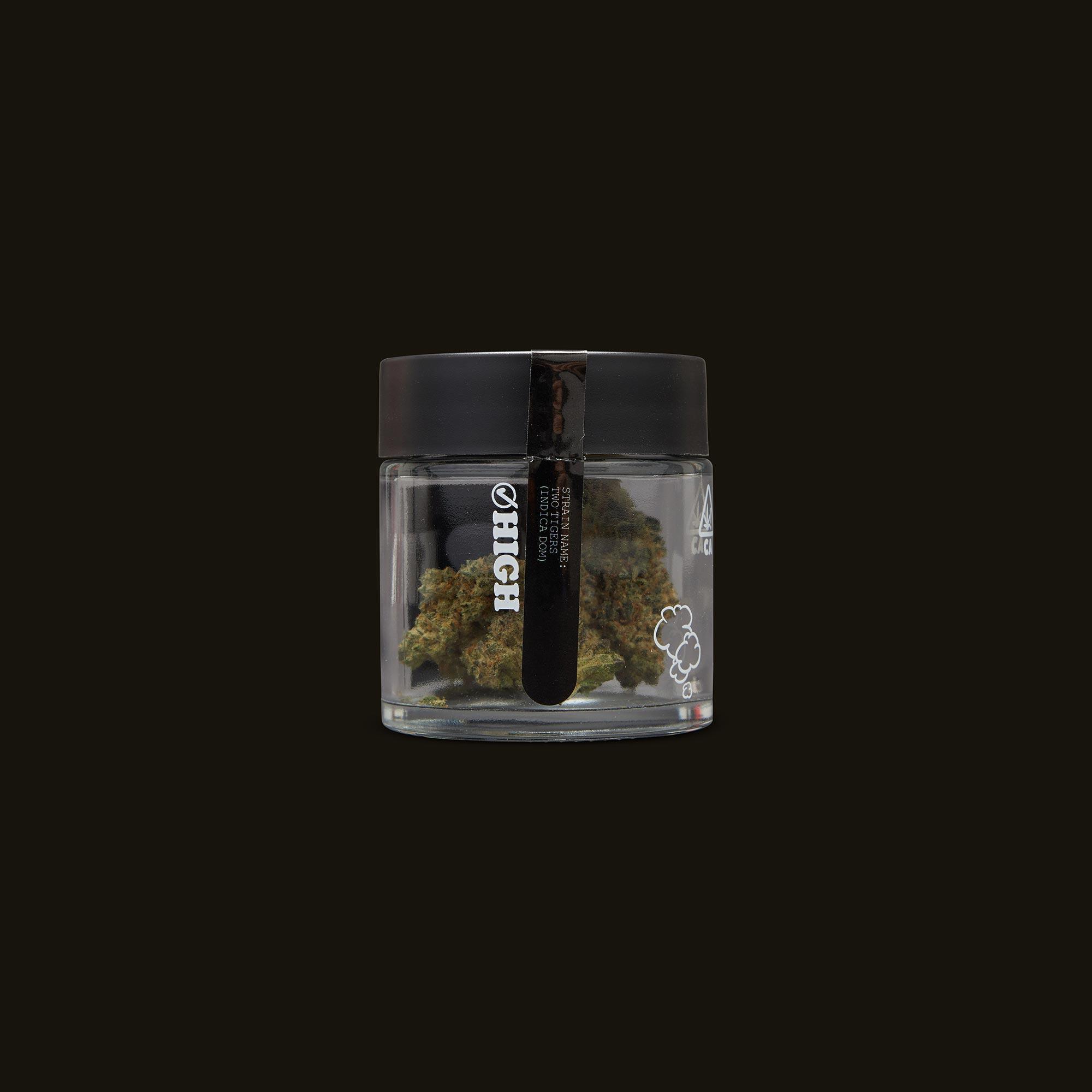 Pure Beauty Two Tigers Side Jar