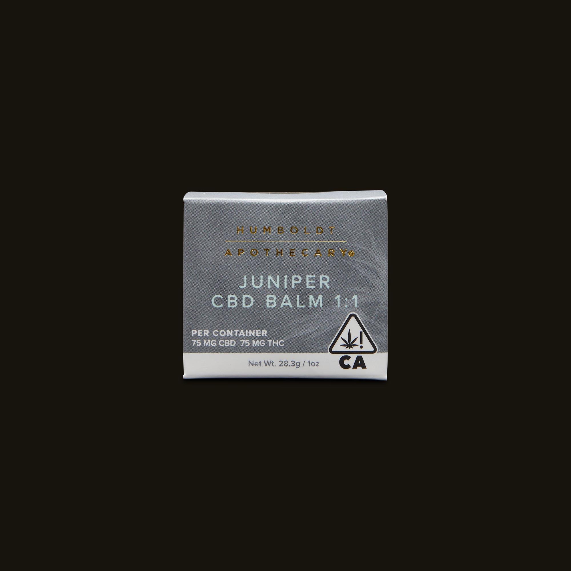Humboldt Apothecary Juniper CBD Balm Front Packaging
