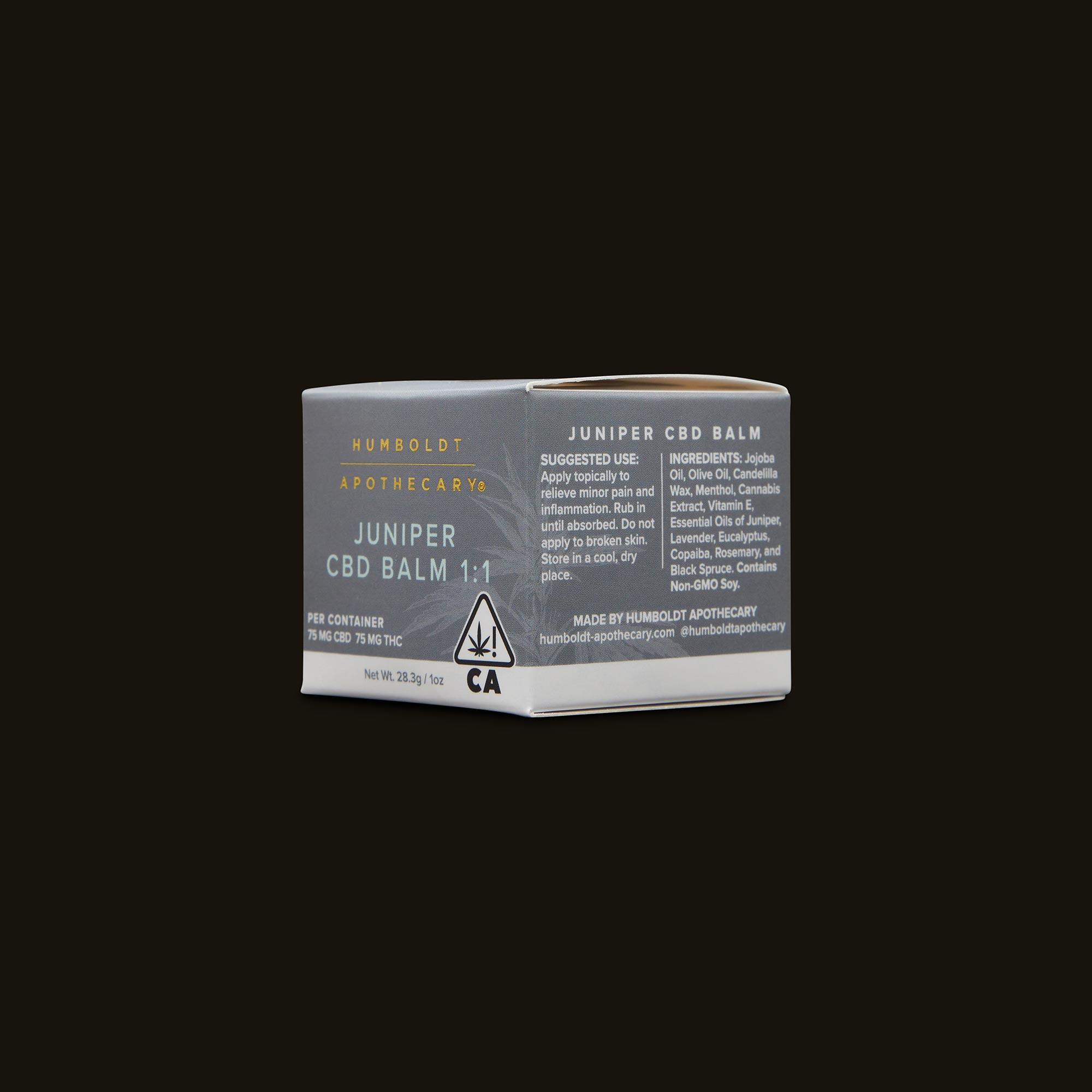 Humboldt Apothecary Juniper CBD Balm Ingredients