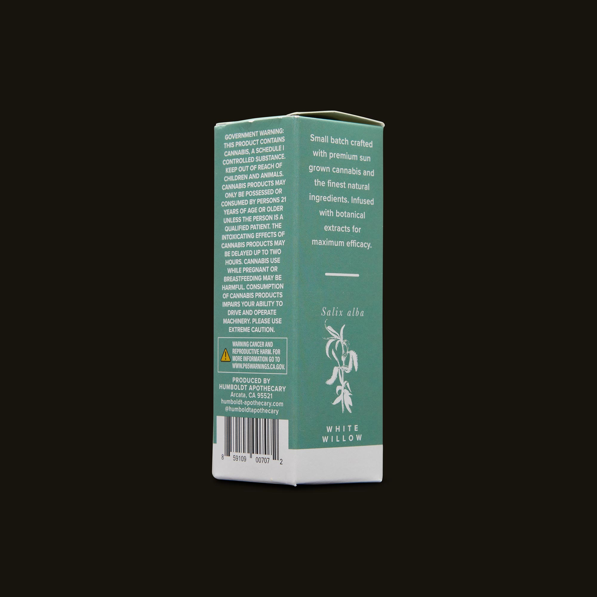 Humboldt Apothecary Inflammation Soother CBD 3:1 Side Packaging