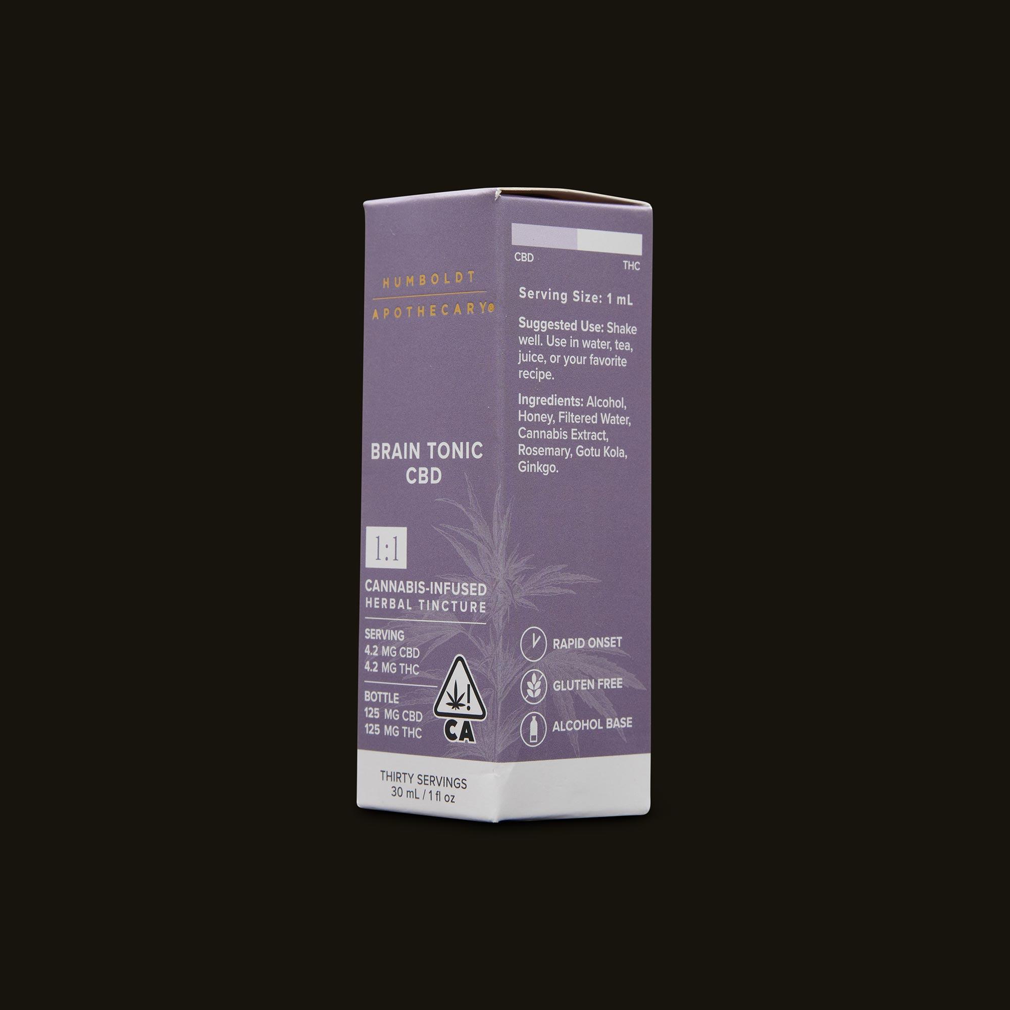 Humboldt Apothecary Brain Tonic CBD 1:1 Ingredients