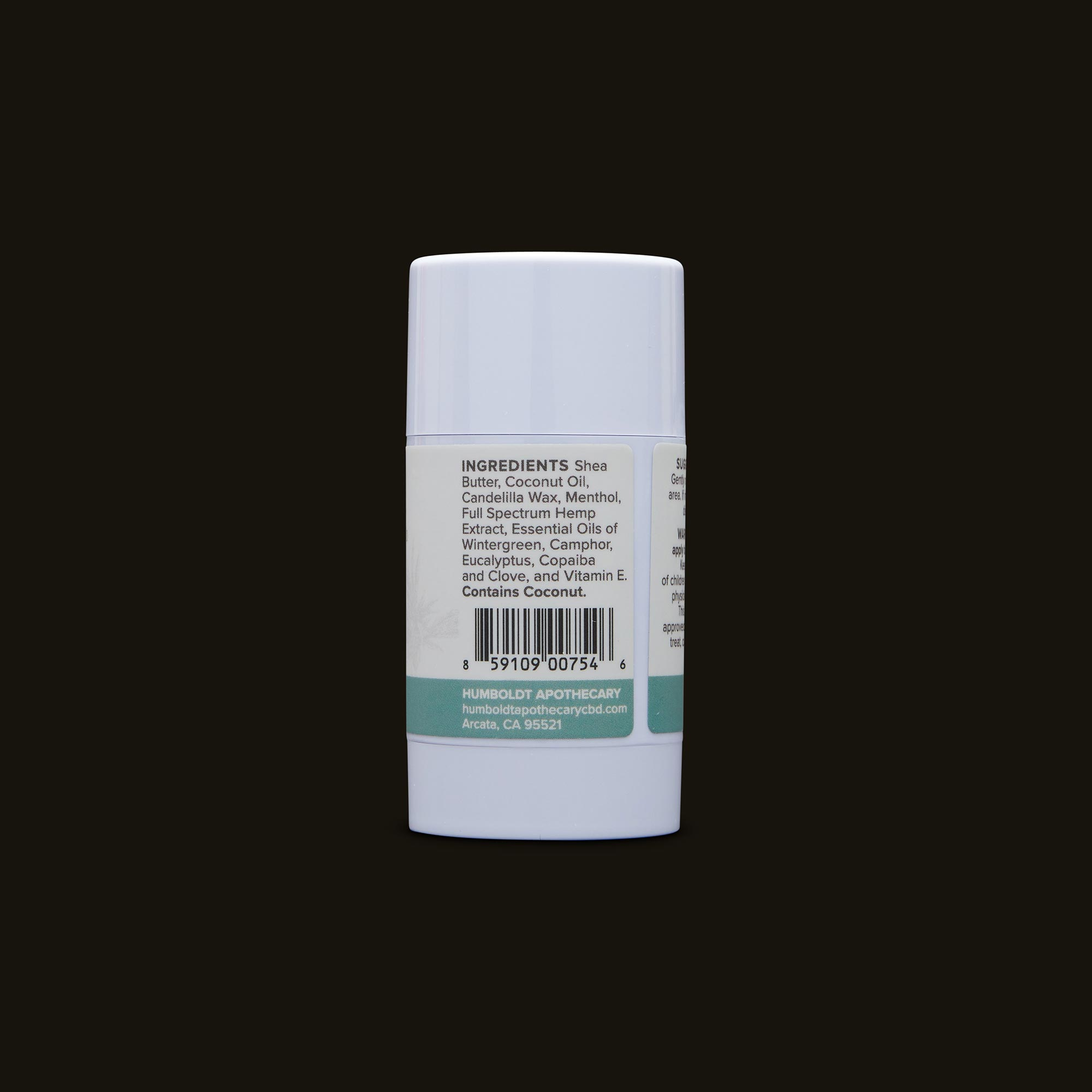 Humboldt Apothecary Wintergreen CBD Stick Ingredients