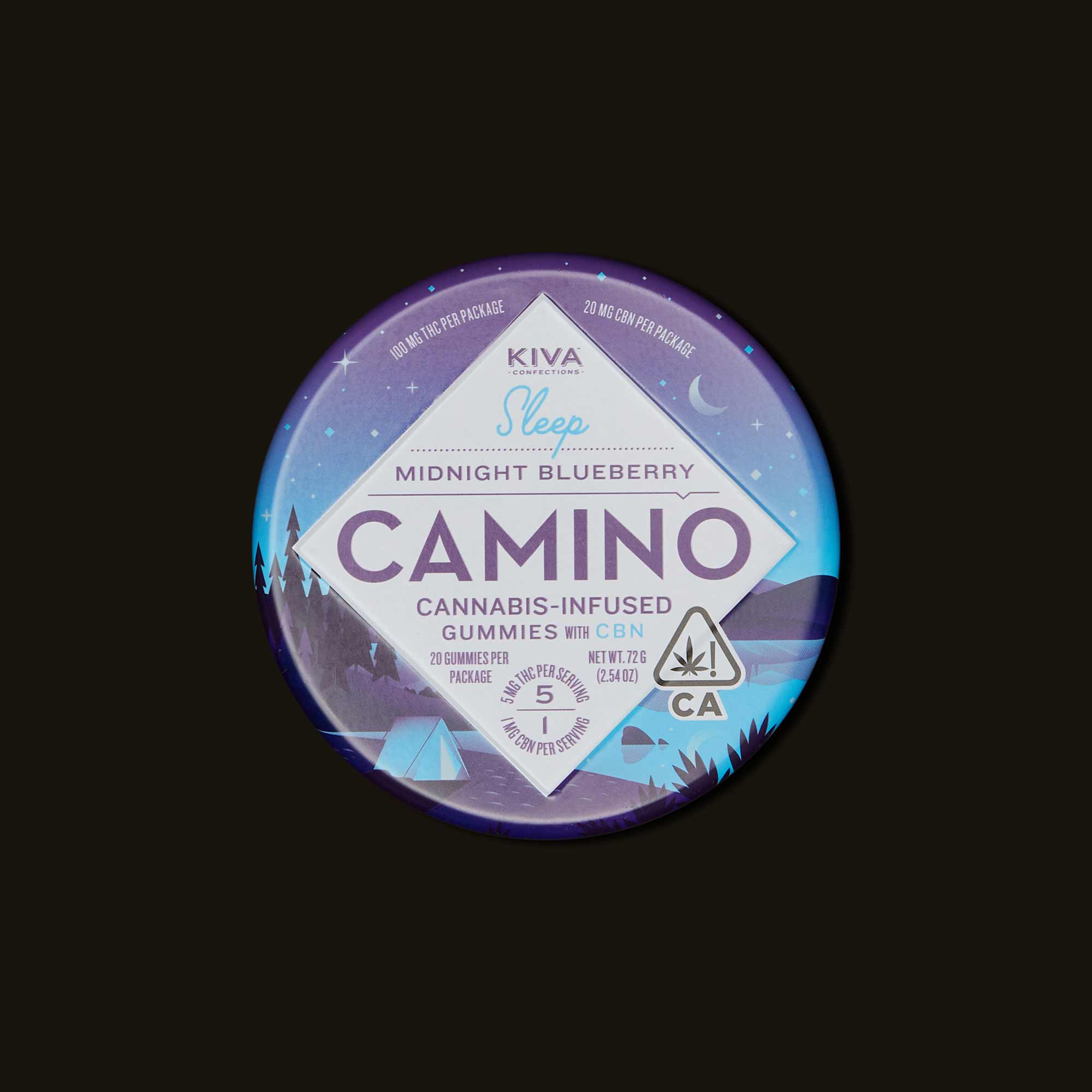 Camino Midnight Blueberry Gummies - 20 gummies (100mg THC)