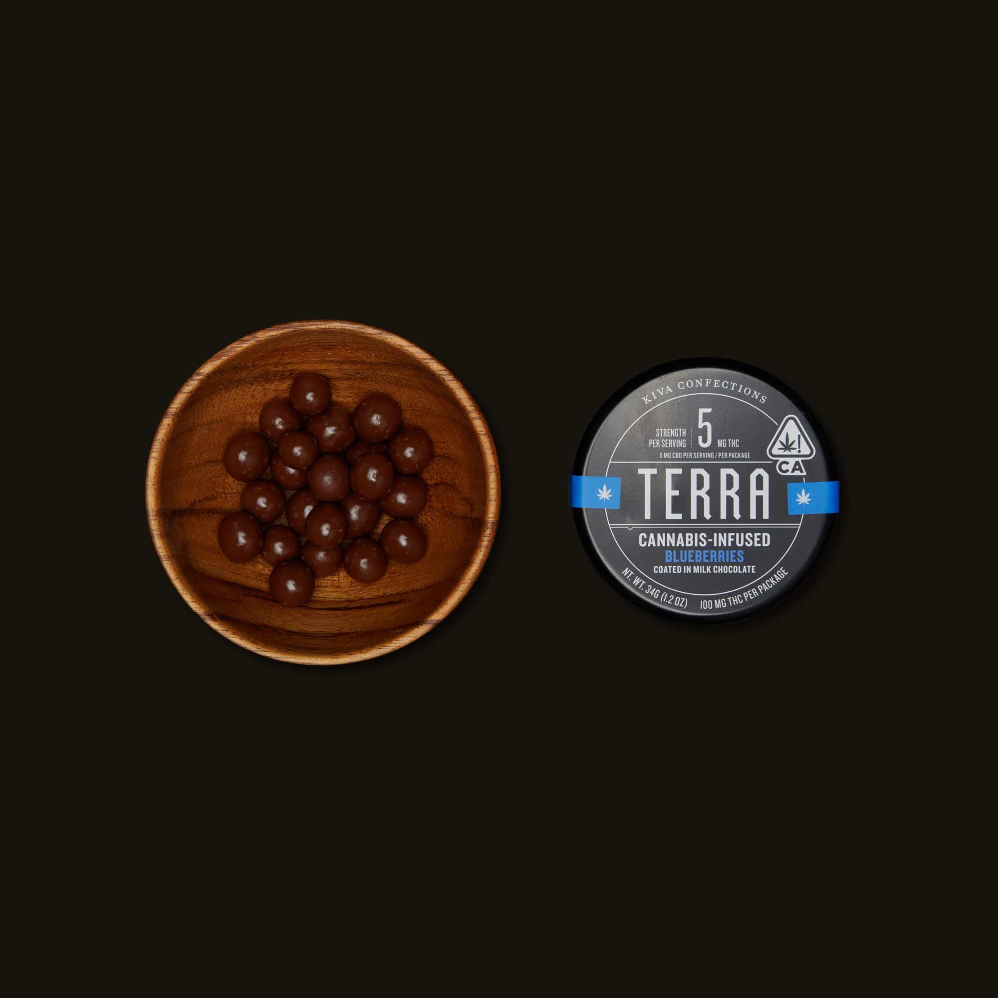 Kiva Confections Terra Milk Chocolate Blueberries