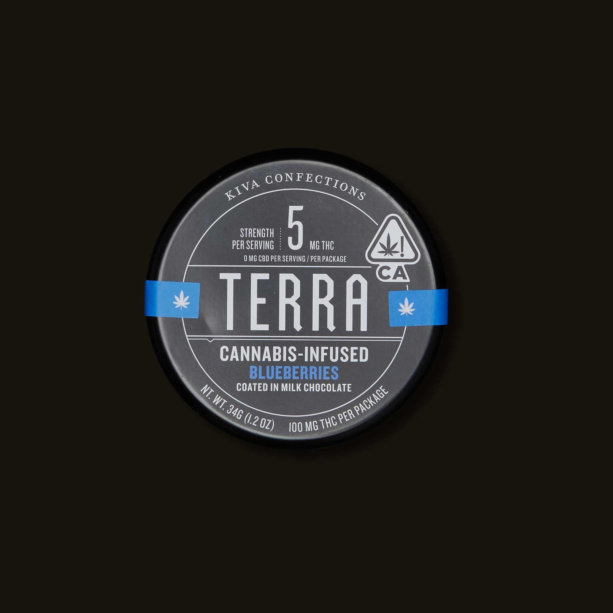 Terra Milk Chocolate Blueberries - 20 pieces
