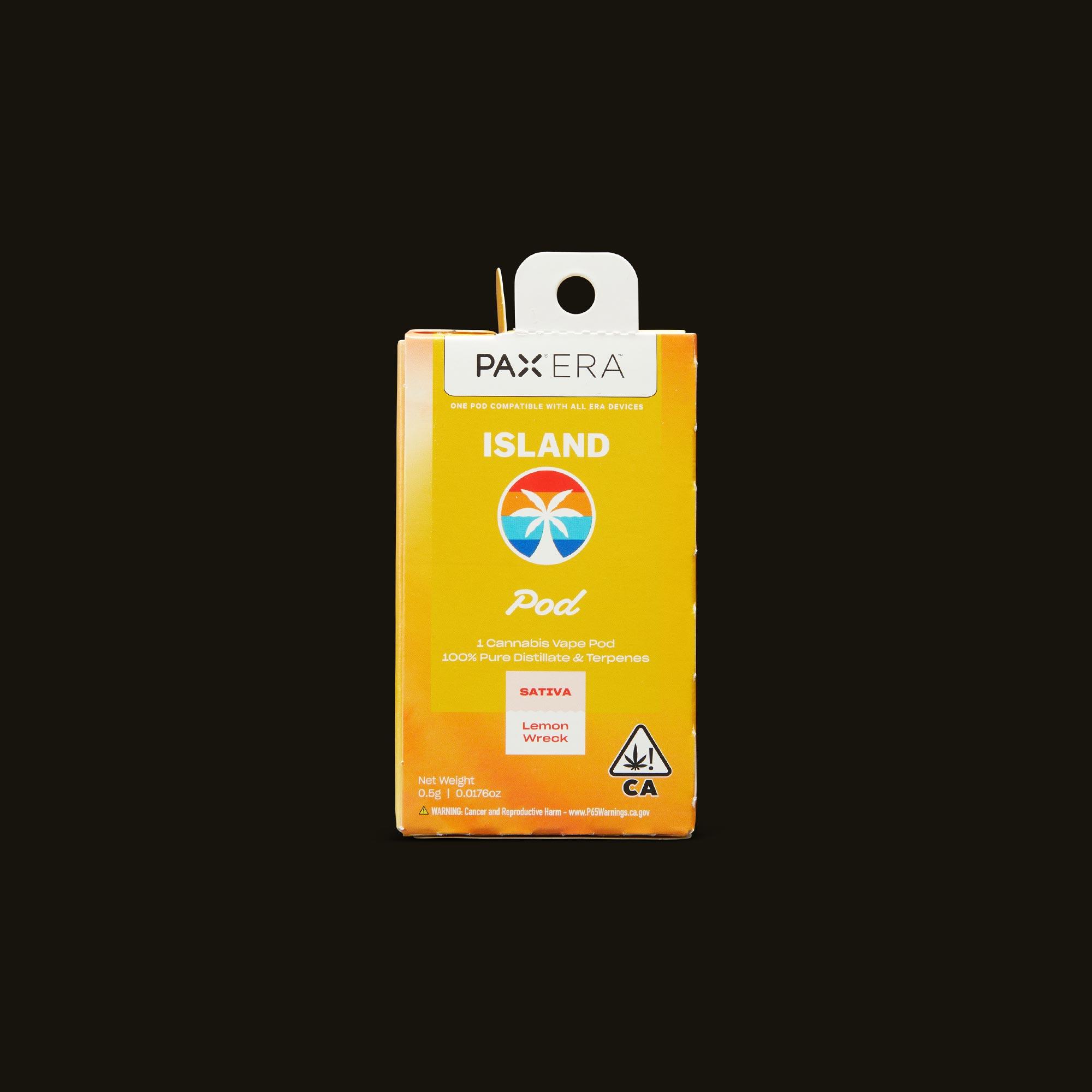 Island Lemon Wreck PAX Era Pod Front Packaging