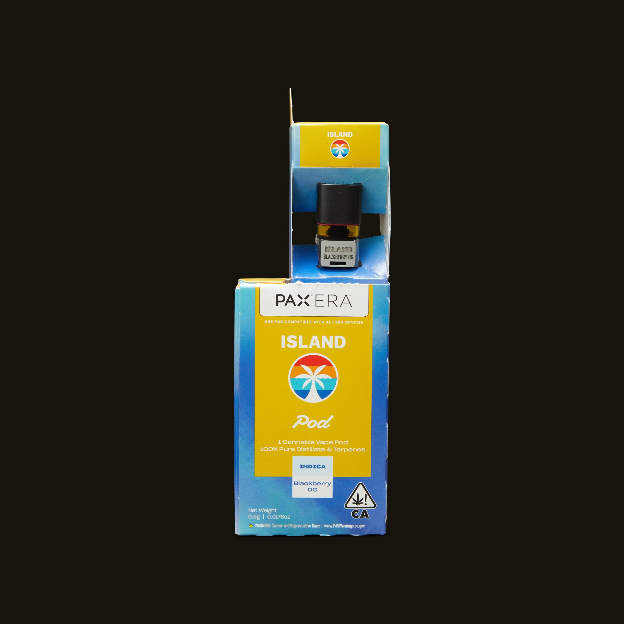 Island Blackberry OG PAX Era Pod Open Packaging