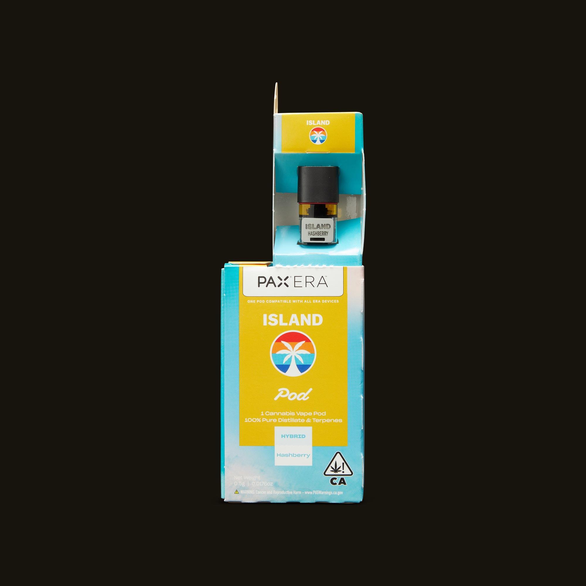 Island Hashberry PAX Era Pod Open Packaging