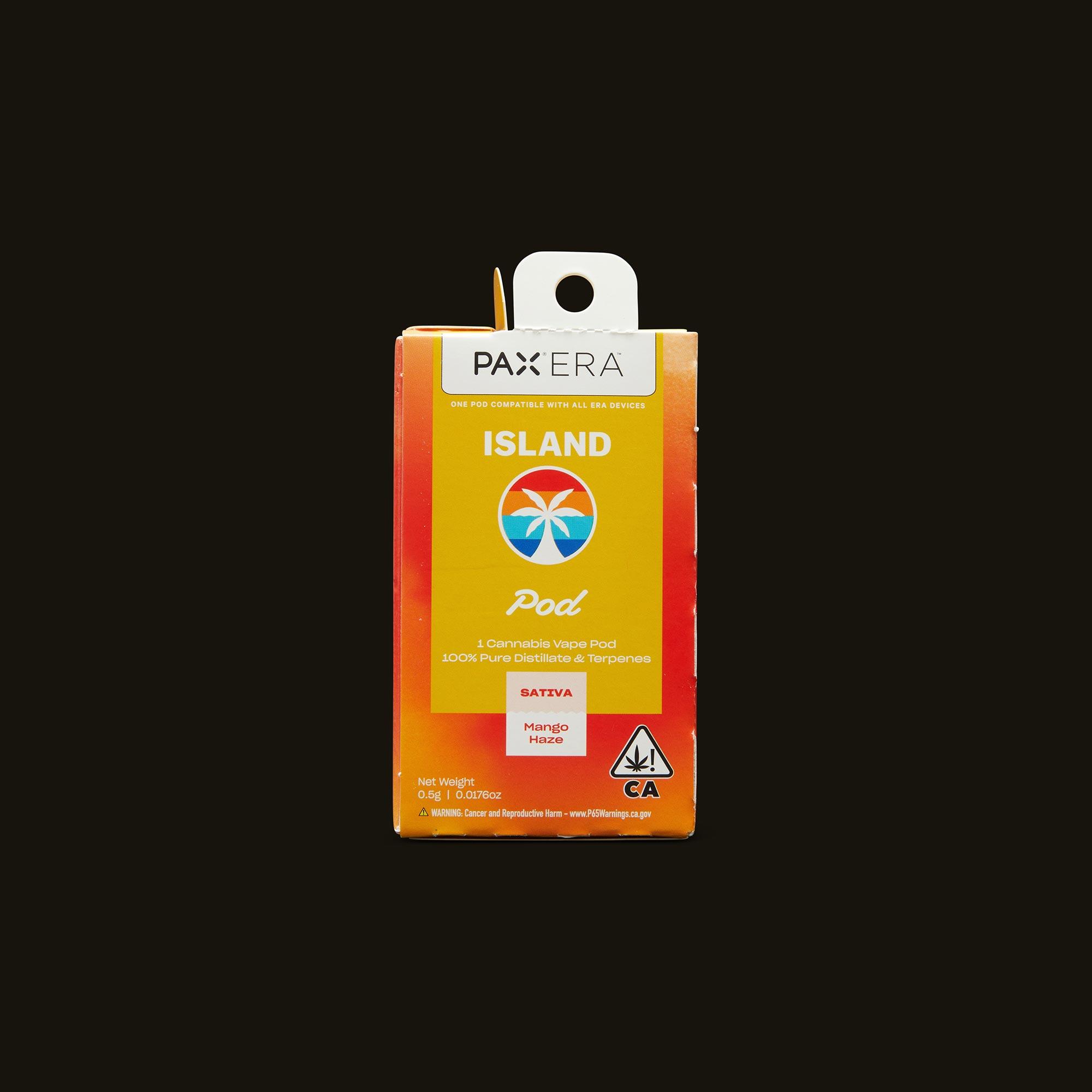 Island Mango Haze PAX Era Pod Front Packaging