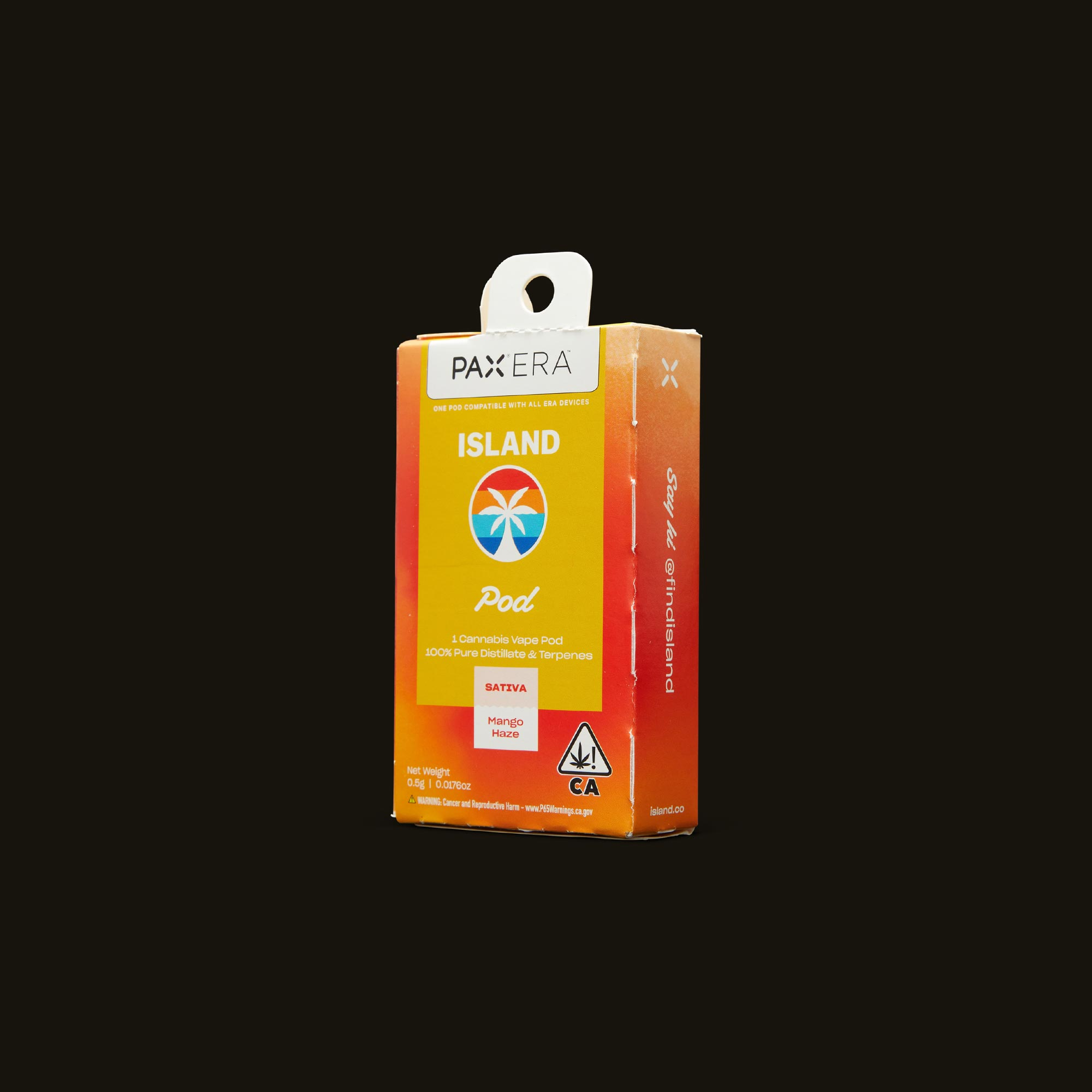 Island Mango Haze PAX Era Pod Side Packaging