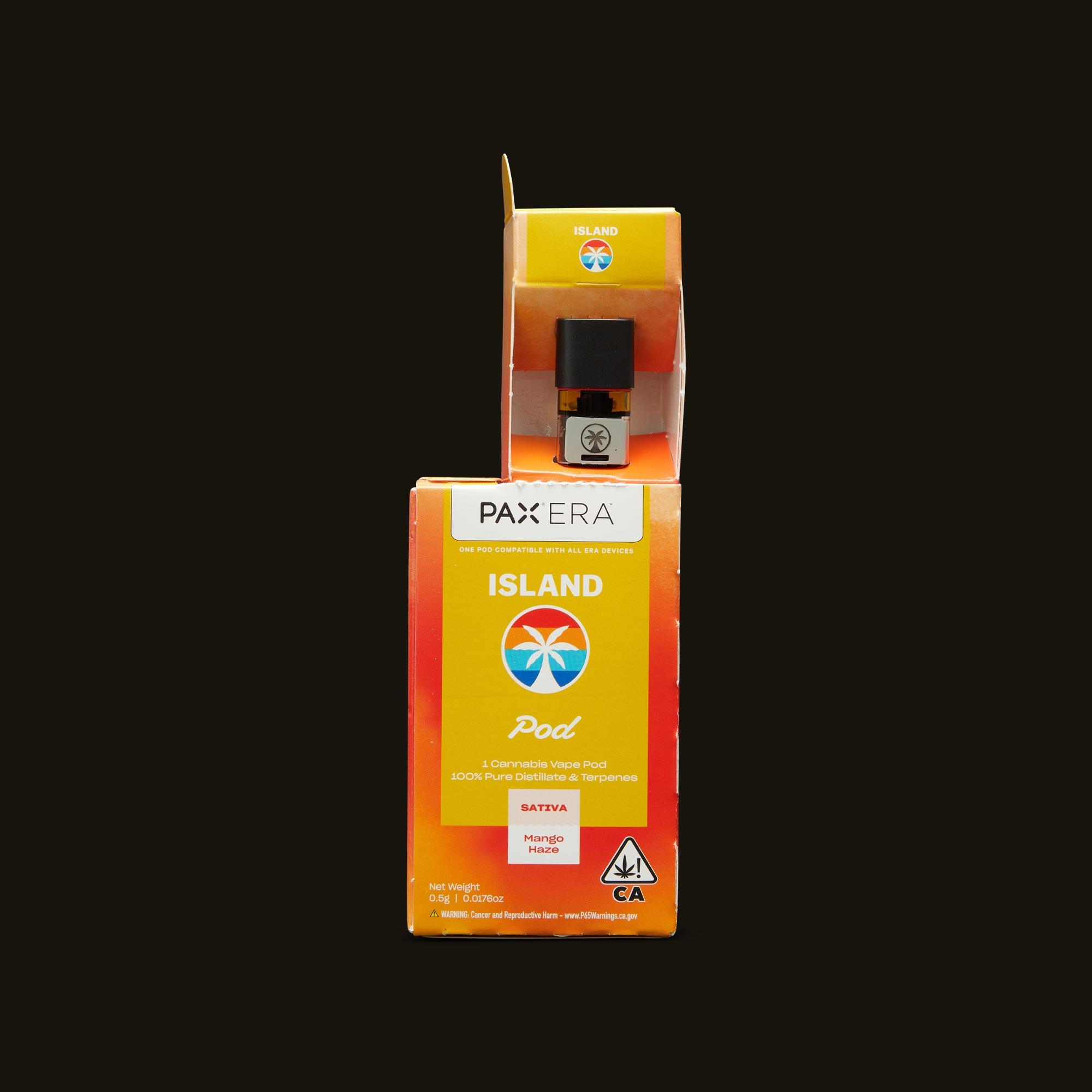 Island Mango Haze PAX Era Pod Open Packaging