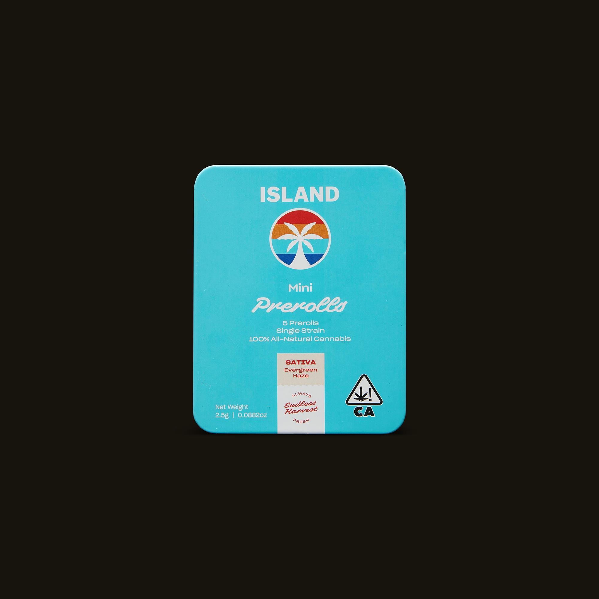 Island Evergreen Haze Mini's Front Packaging