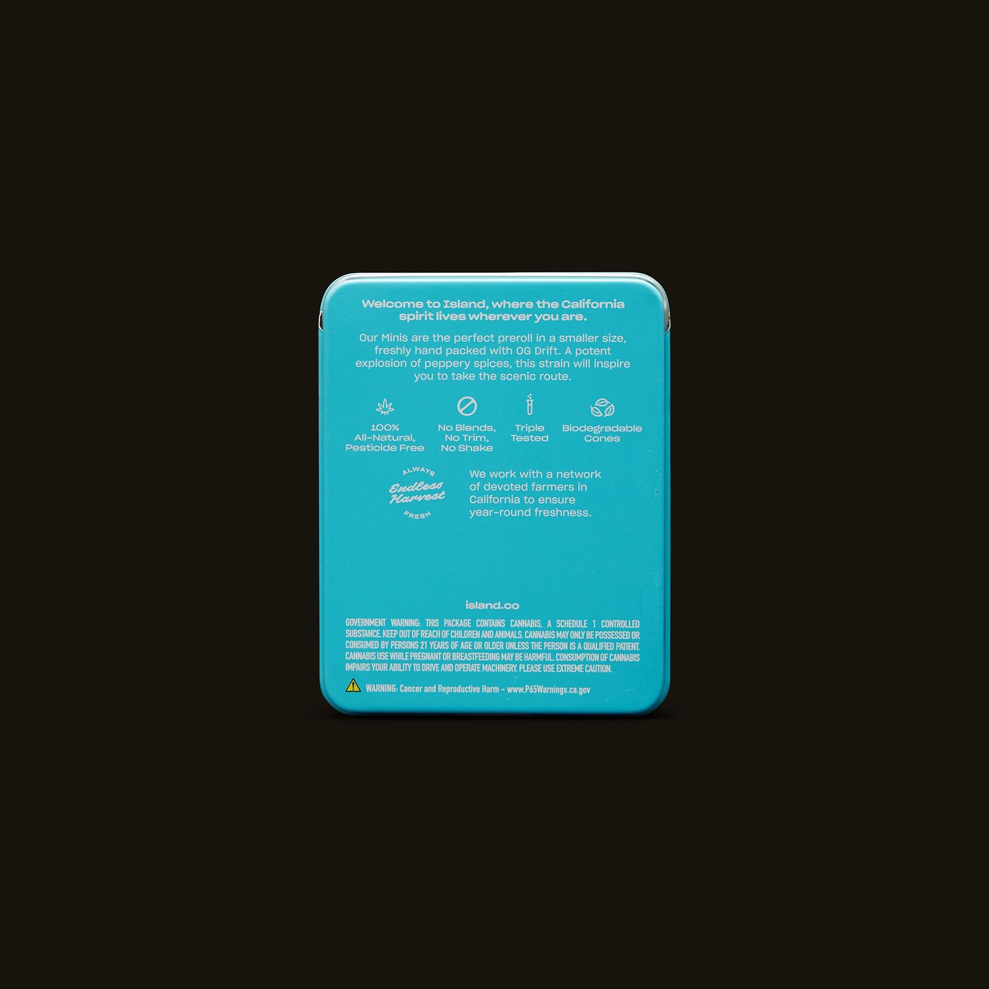 Island OG Drift Mini's Back Packaging
