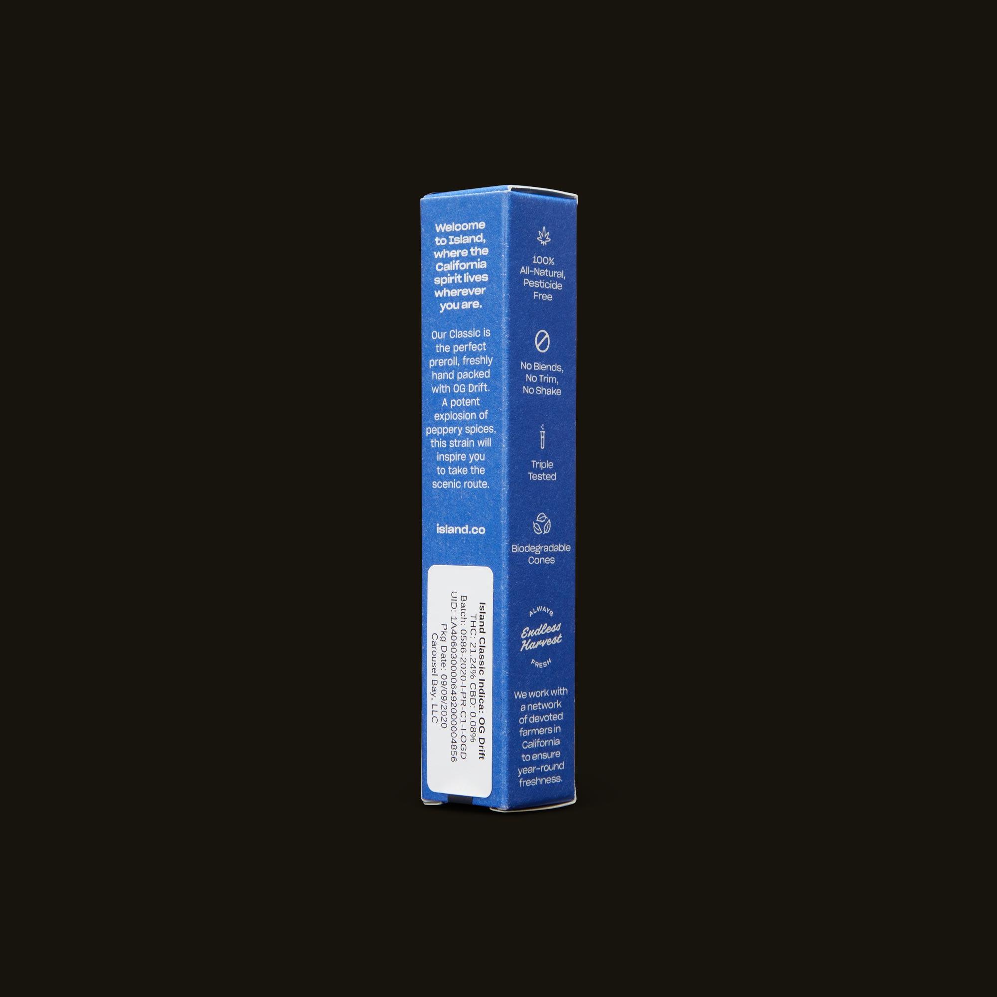 Island OG Drift Classic Back Packaging