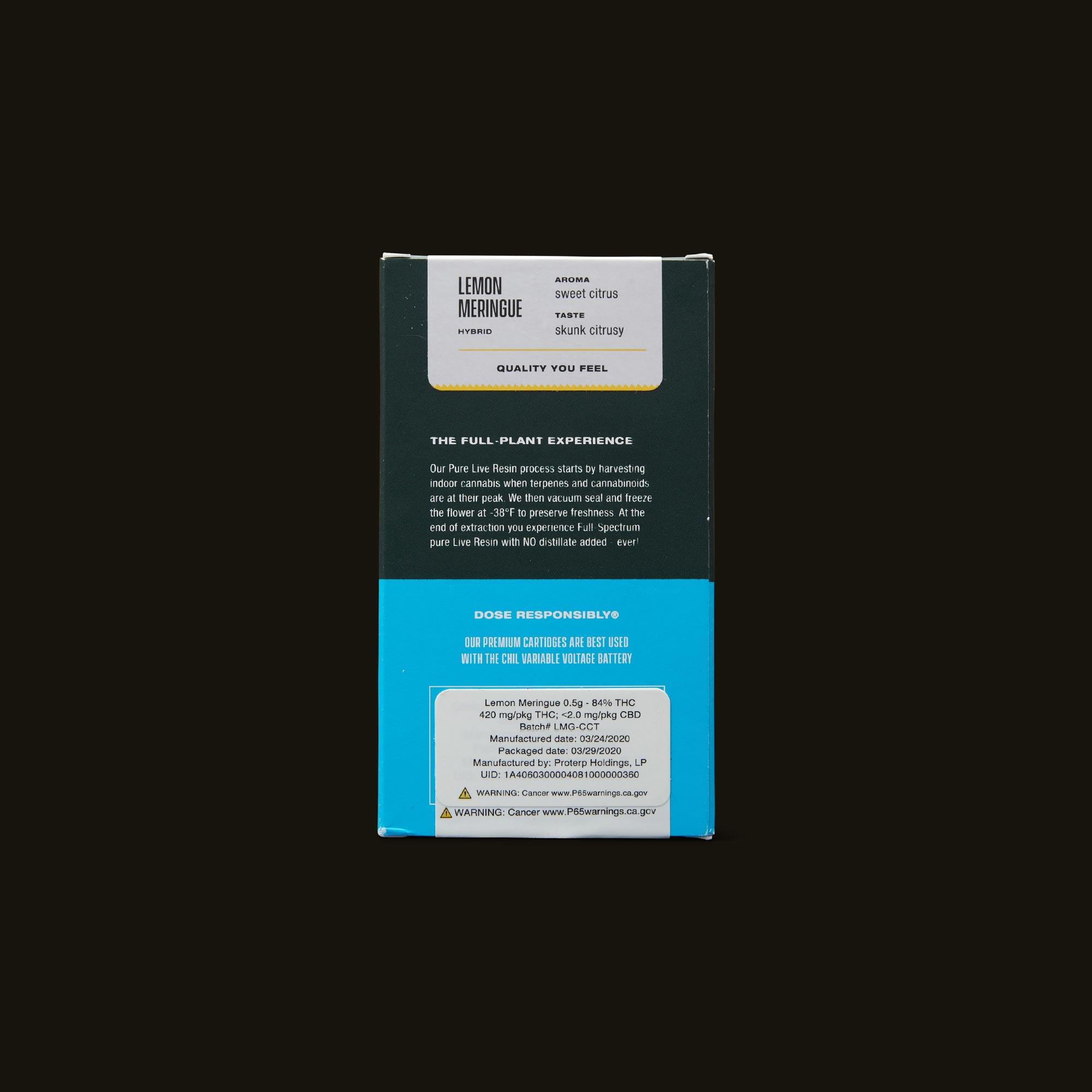 Chil Lemon Meringue Pure Live Resin Cartridge Ingredients