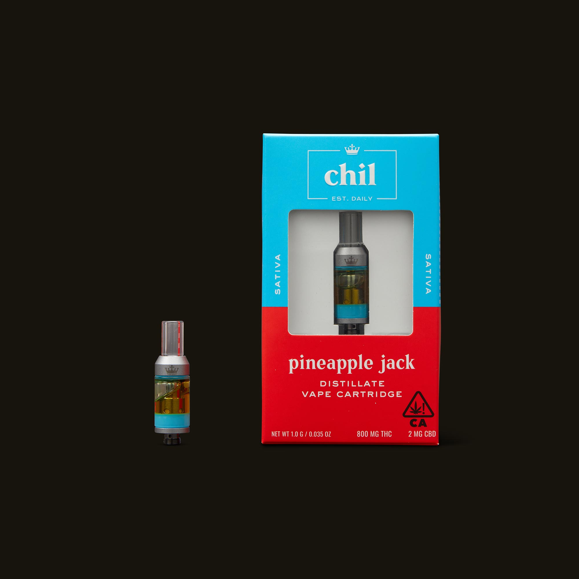 Chil Pineapple Jack Cartridge with Box