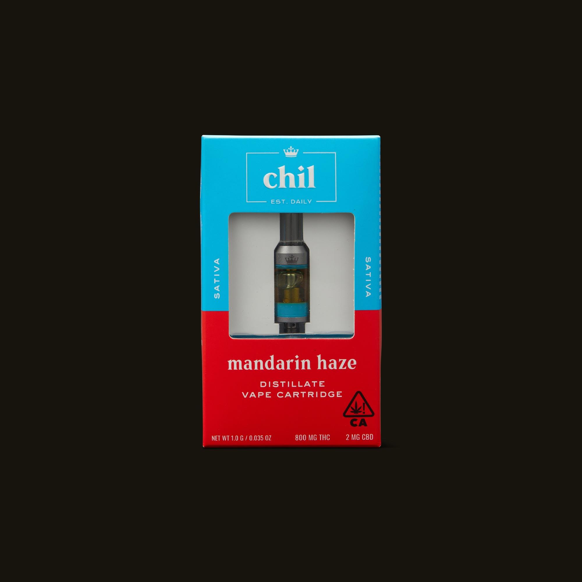 Chil Mandarin Haze Cartridge Front of Box