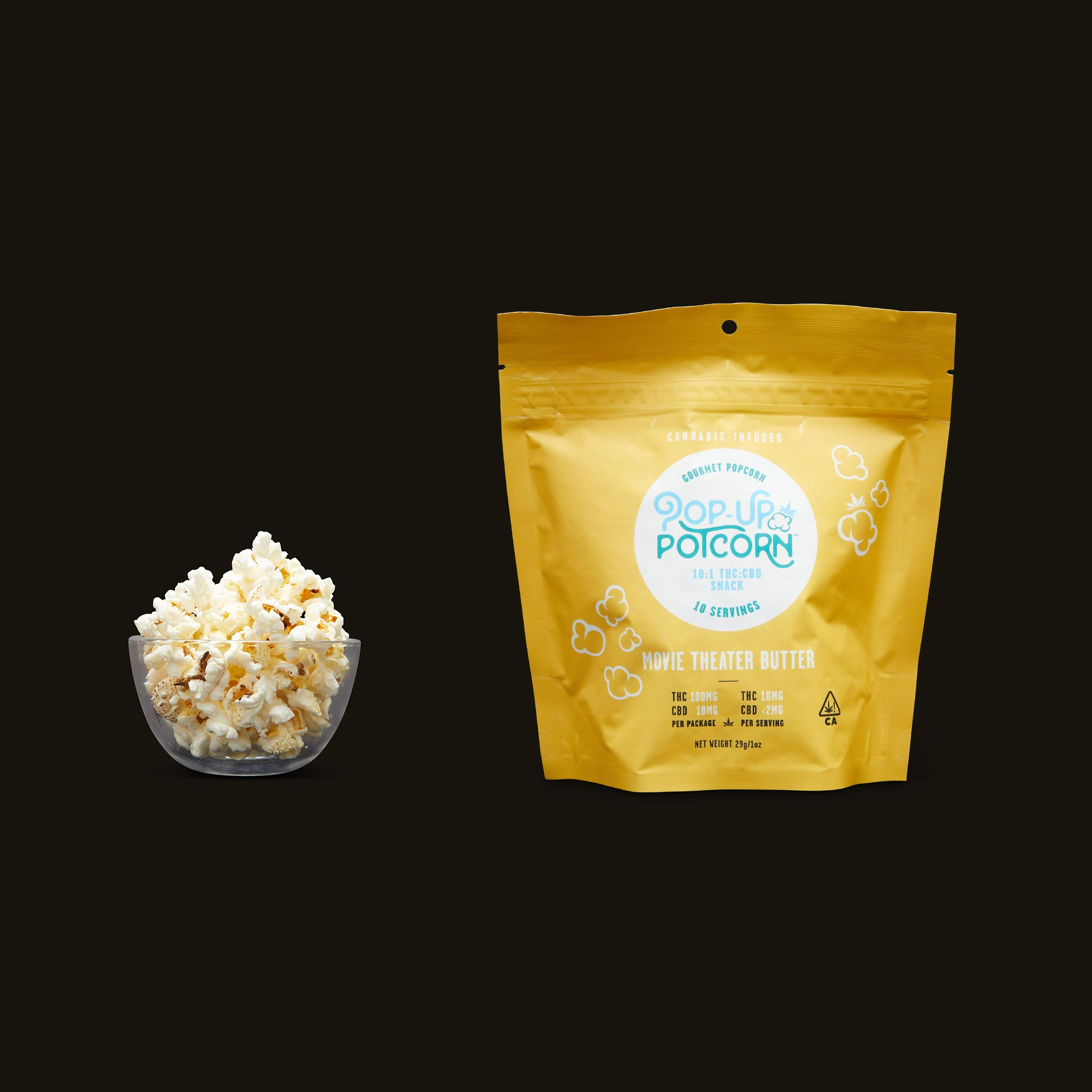 Pop-Up Potcorn Movie Theater Butter Popcorn 10:1 - 10 Servings