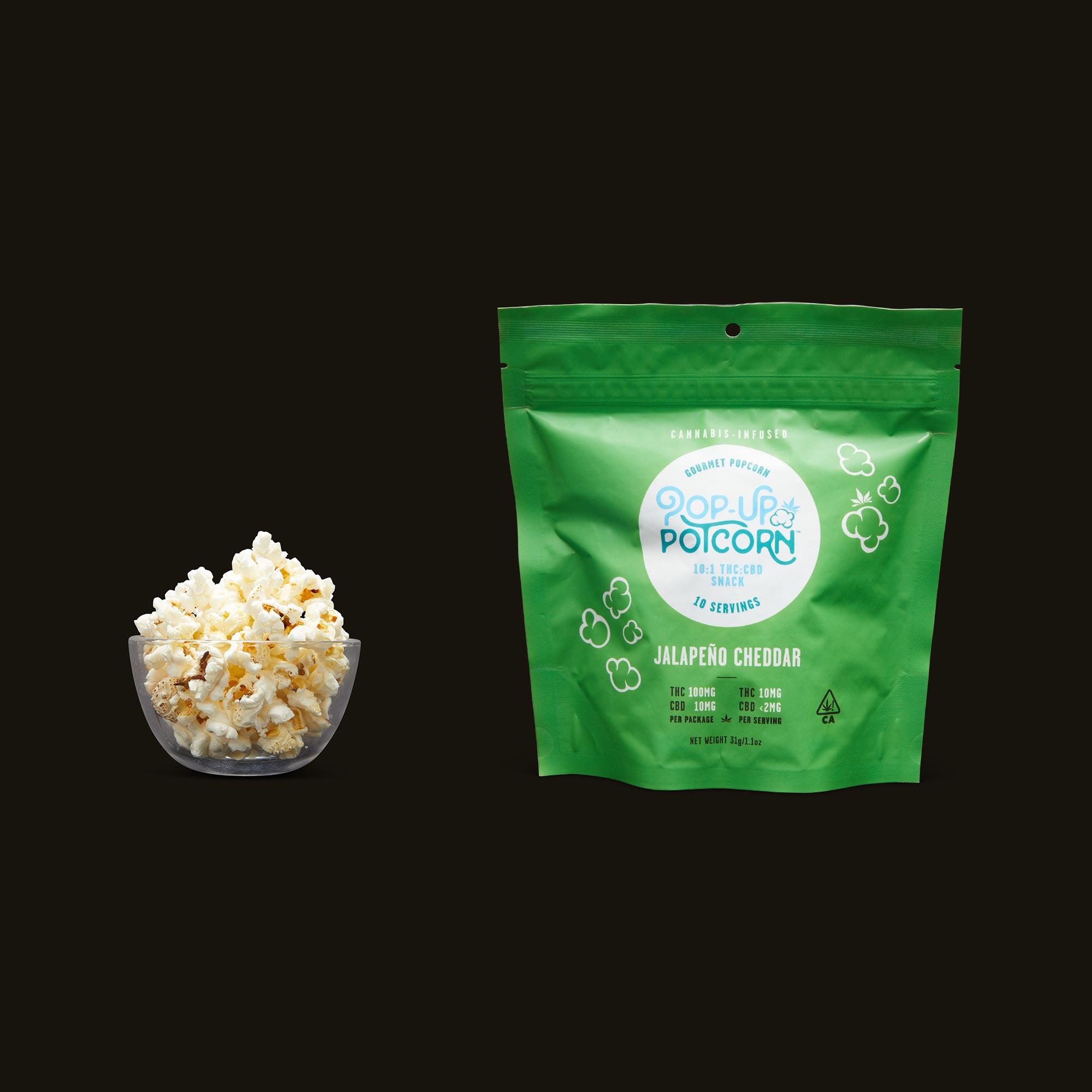 Pop-Up Potcorn Jalapeno Cheddar Popcorn 10:1 - 10 Servings