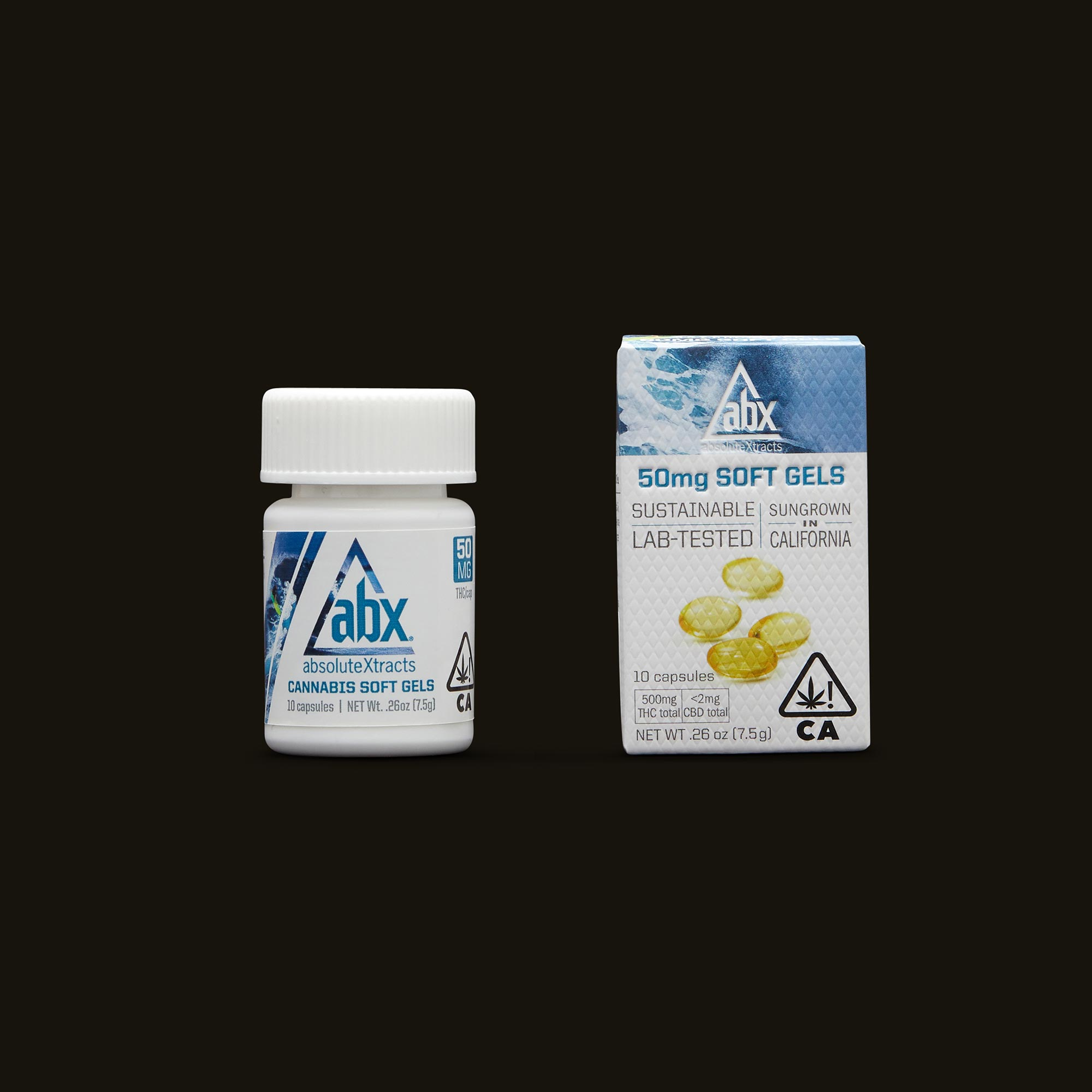 Bottle and Box of Absolute Extracts Capsules