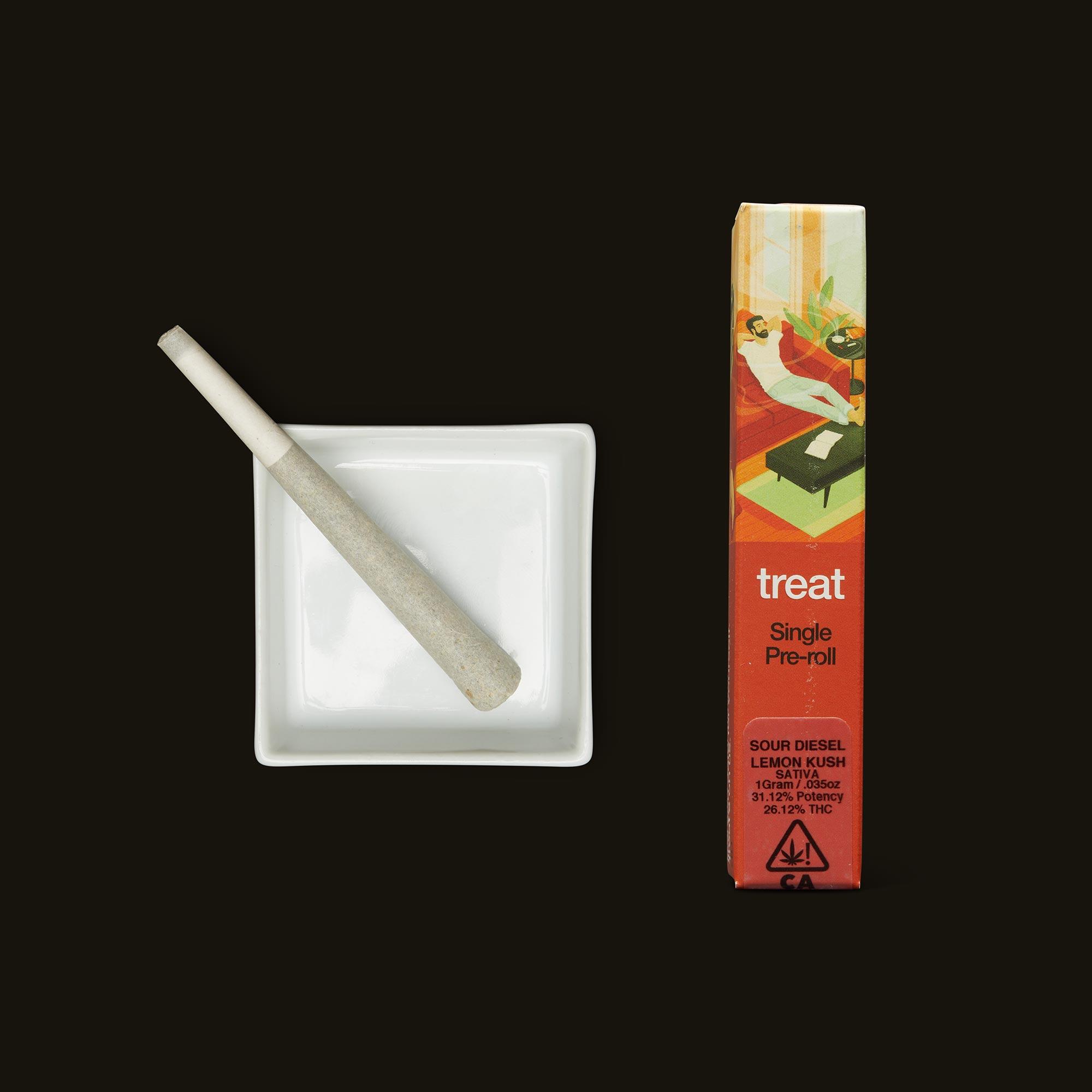 treat Sour Diesel Lemon Kush Pre-Roll