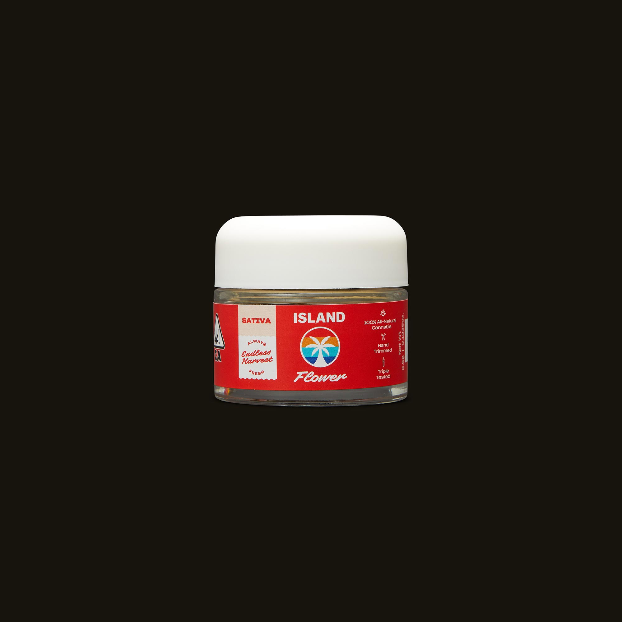 Island Evergreen Haze Front Jar