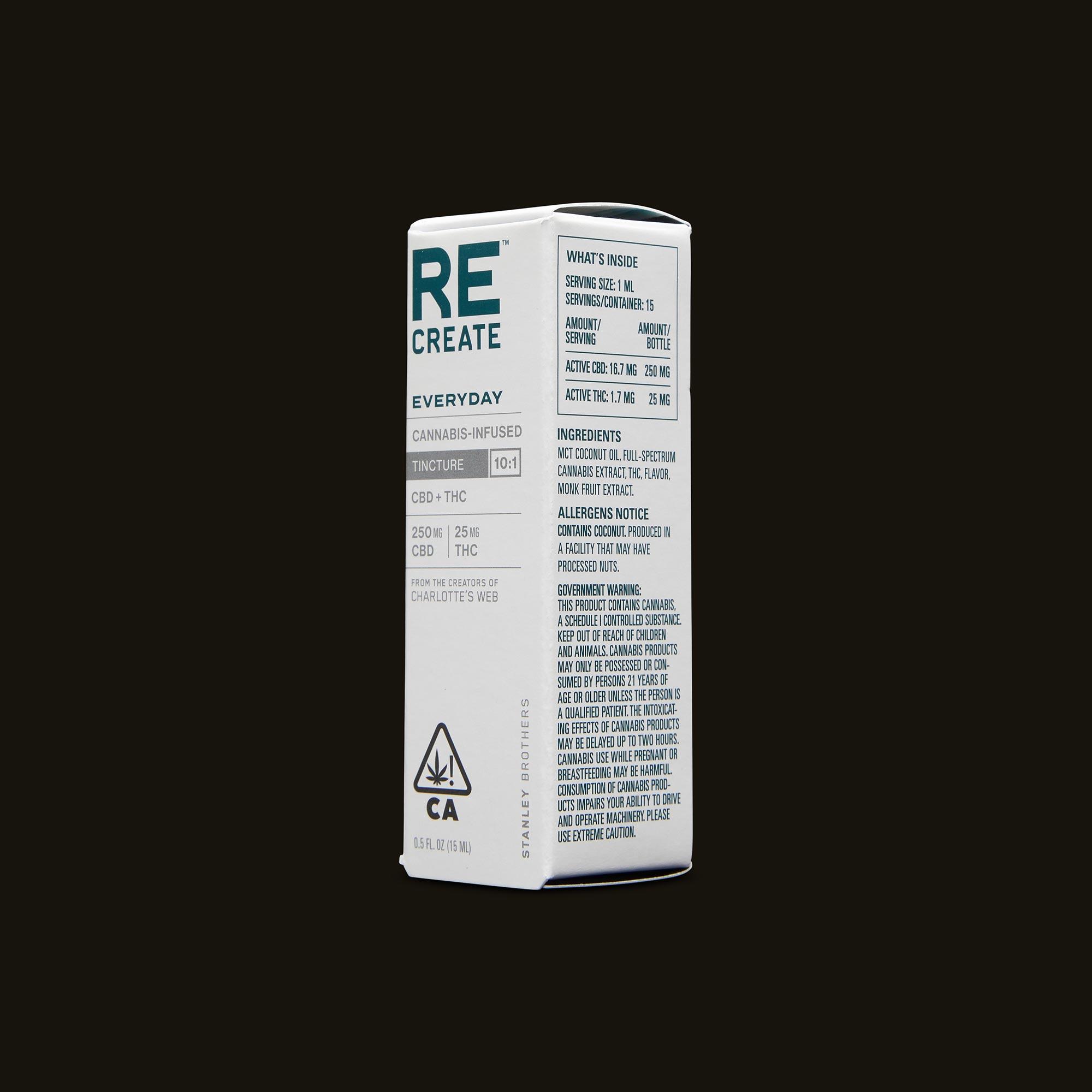 ReCreate Everyday Tincture - 15ml Ingredients