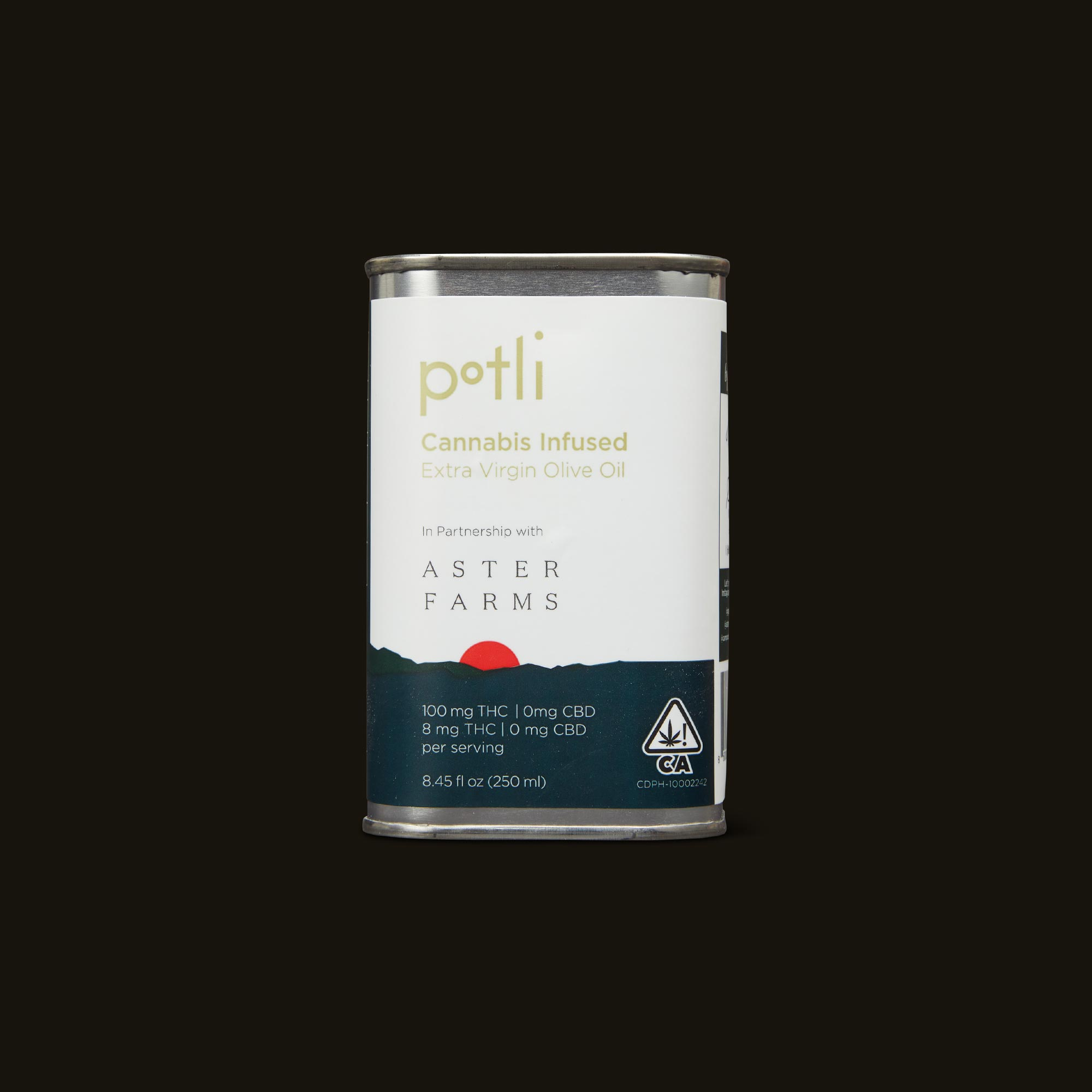 Aster Farms Potli Infused Olive Oil Front Packaging